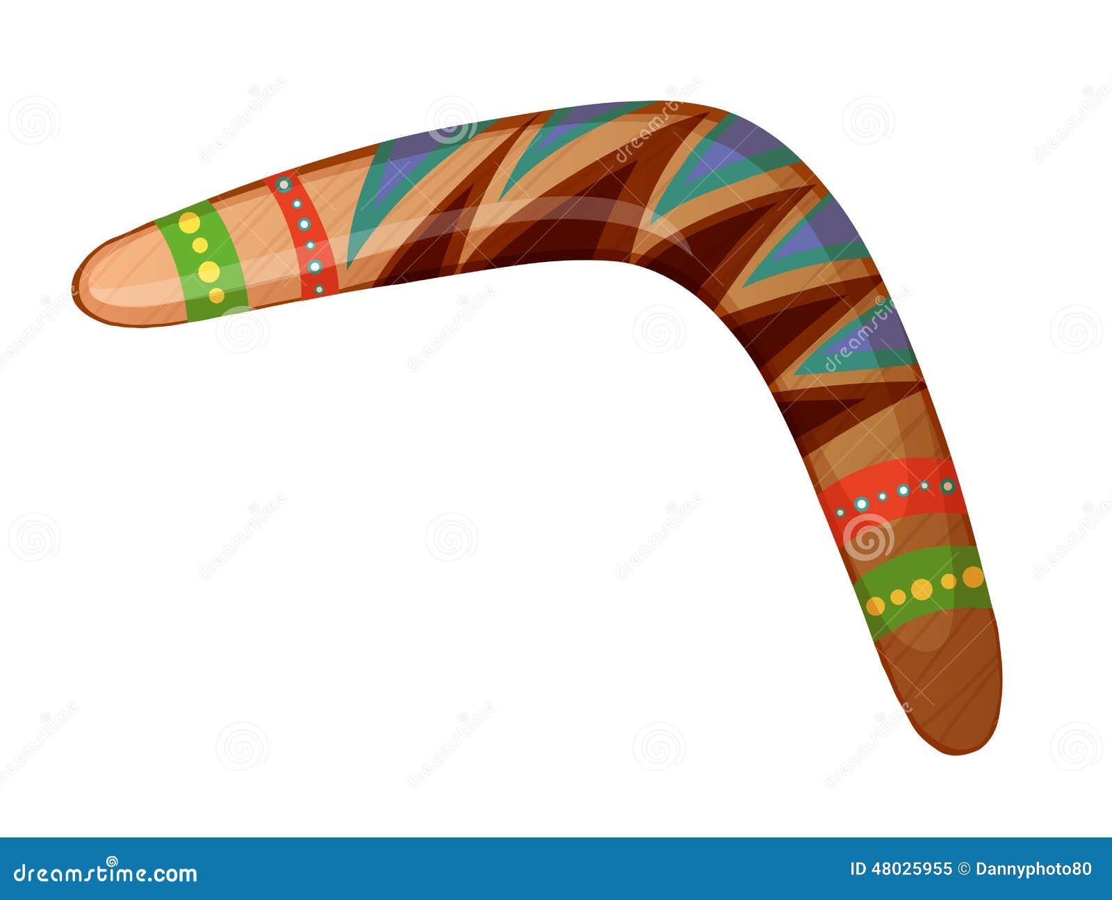 Un bumerán ilustración del vector. Ilustración de gráfico - 48025955