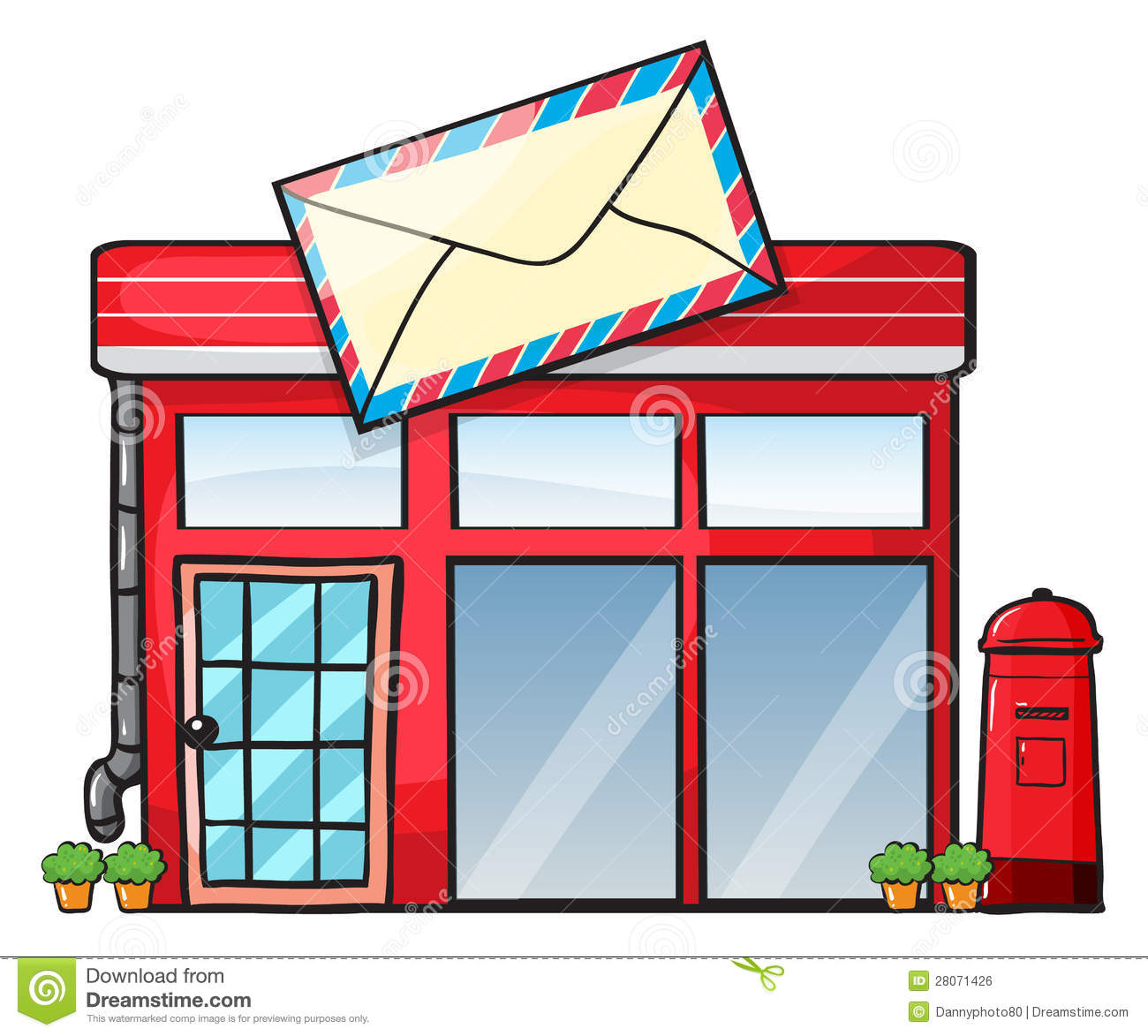 Un bureau de poste illustration stock illustration du - Appeler un bureau de poste ...