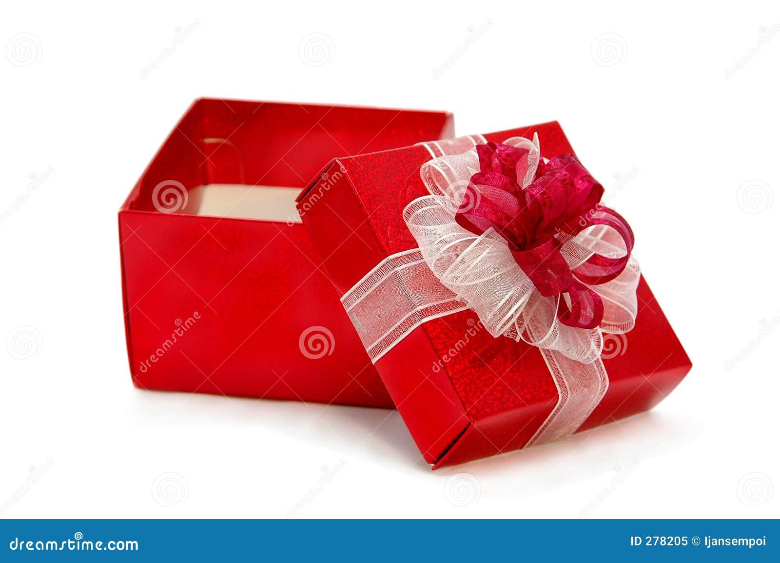 Boîte De Cadeau Le Jour De Noël Clip Art: Un Cadeau Ouvert Image Stock. Image Du Carte, Fille