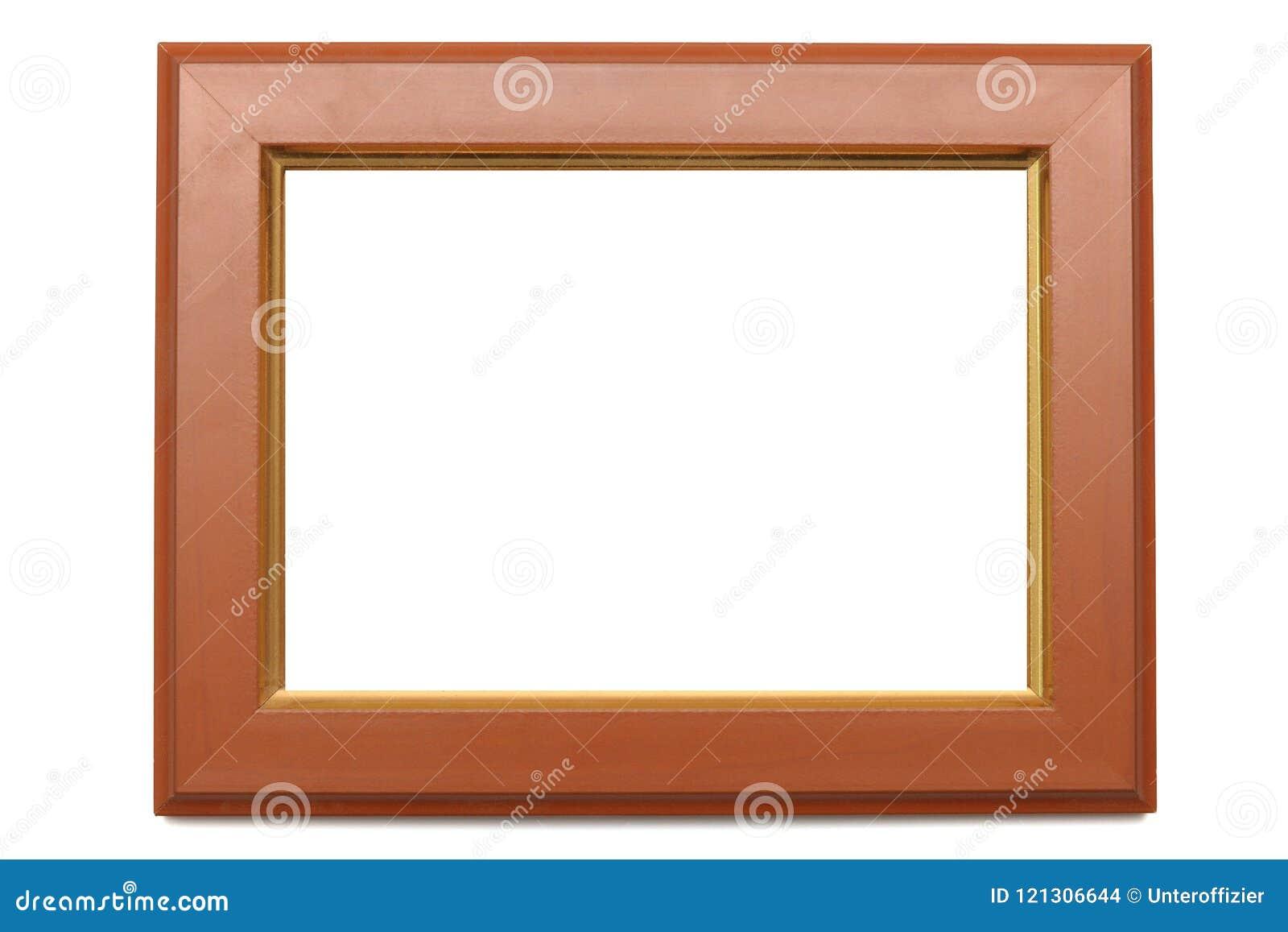 Un cadre de forme rectangulaire de photo avec des bords de faire du bois