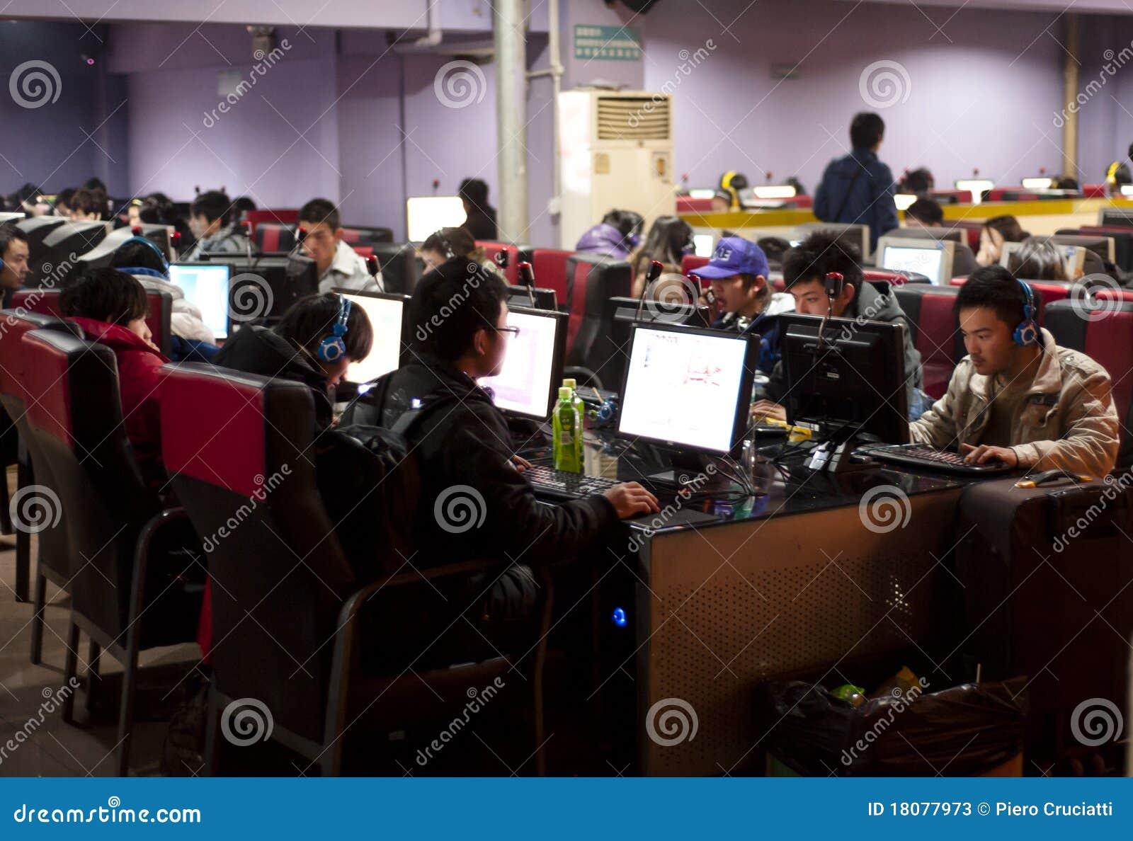 Un café serré d Internet en Chine