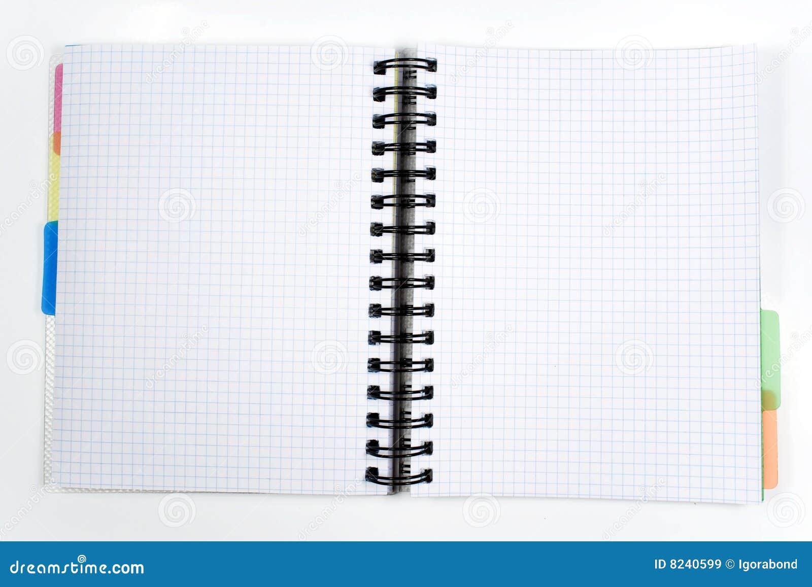 un cahier ouvert images libres de droits image 8240599. Black Bedroom Furniture Sets. Home Design Ideas
