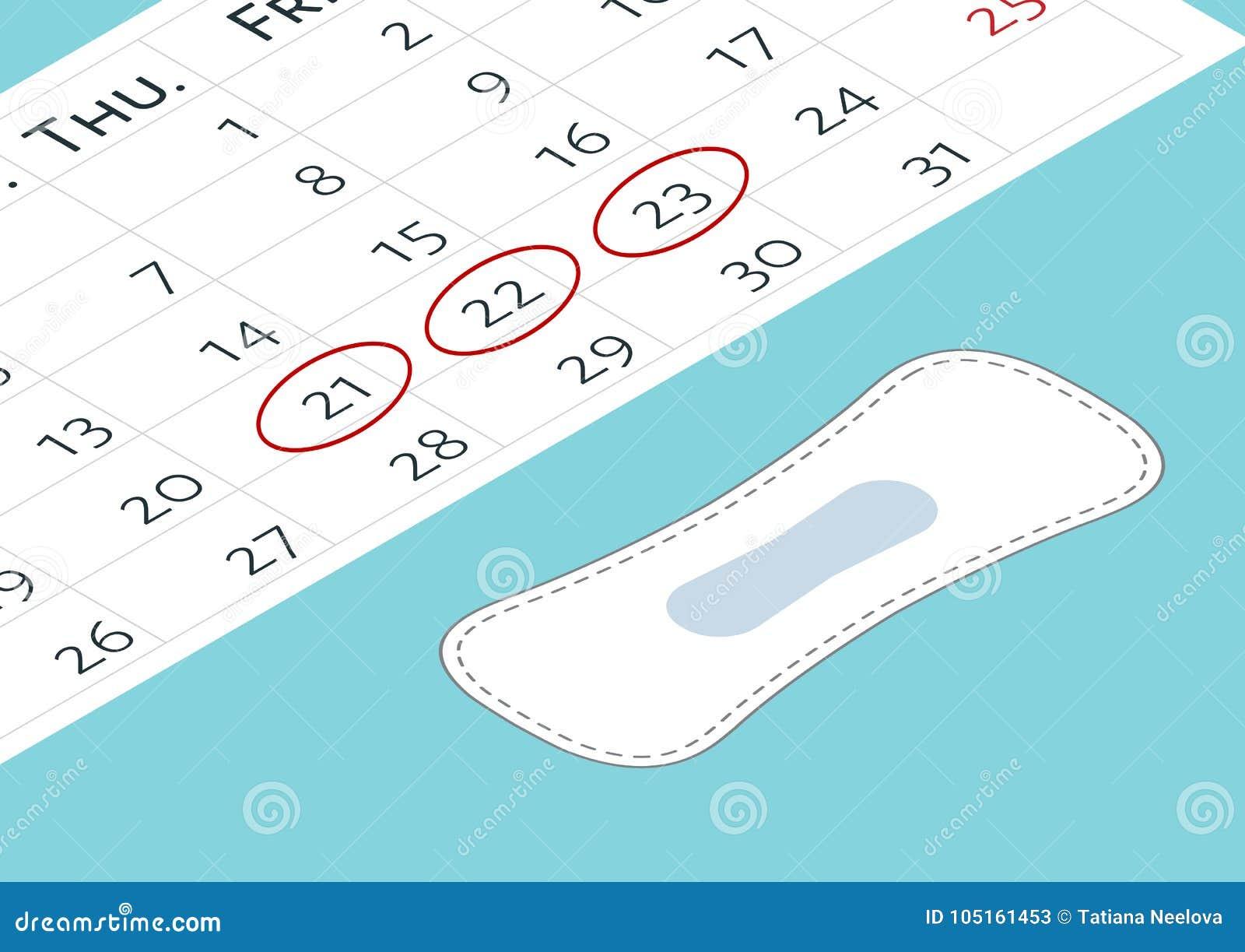 Calendario Menstrual De 31 Dias.Un Calendario Con Las Marcas Menstruales De Los Dias Y Los
