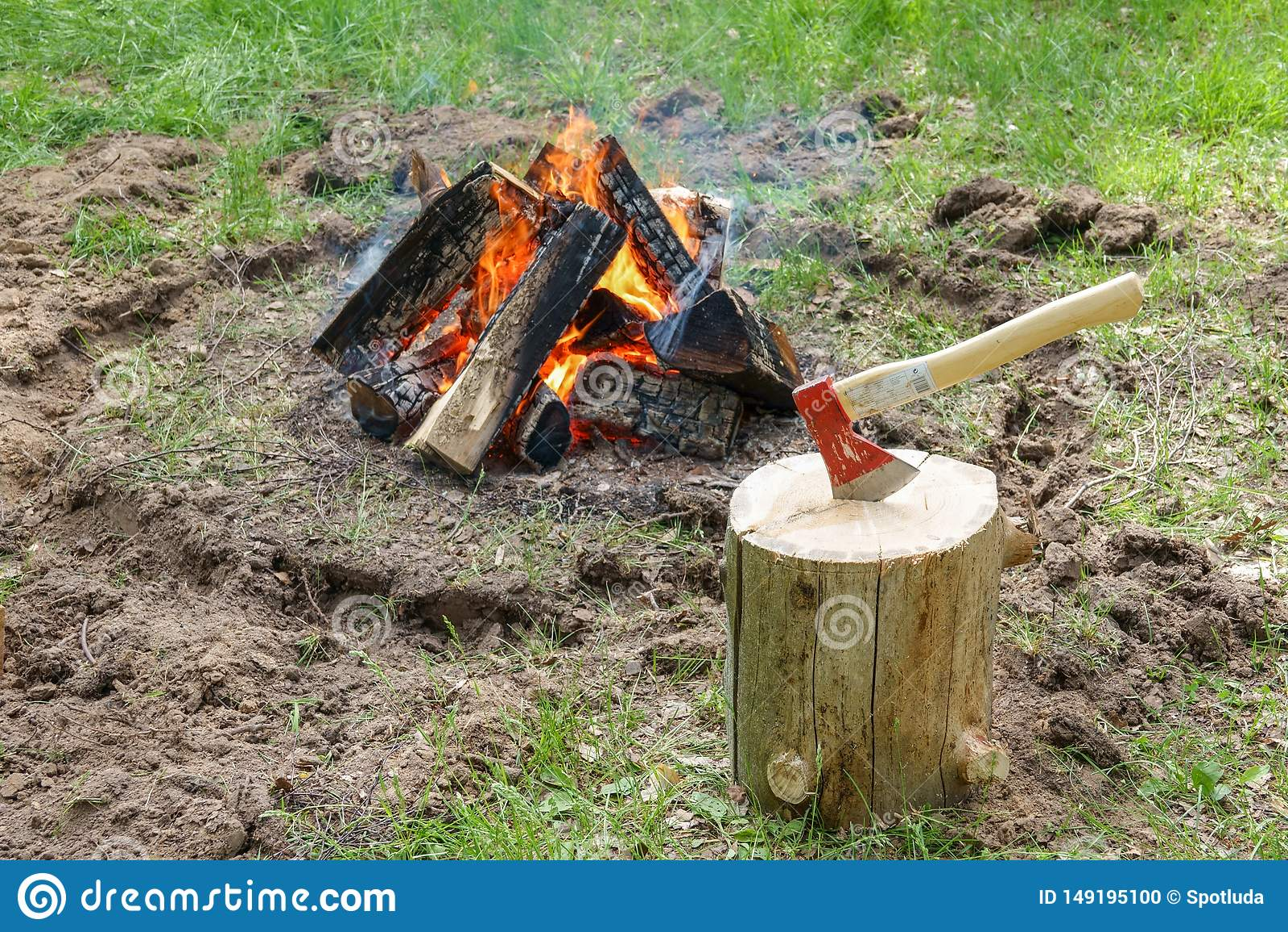 Un camino infornato dal lago Pezzi bruciati di legno e di cenere in un posto per i fuochi di fumo