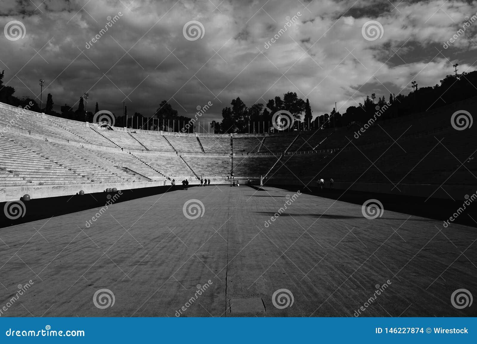 Un campo de deportes vacío