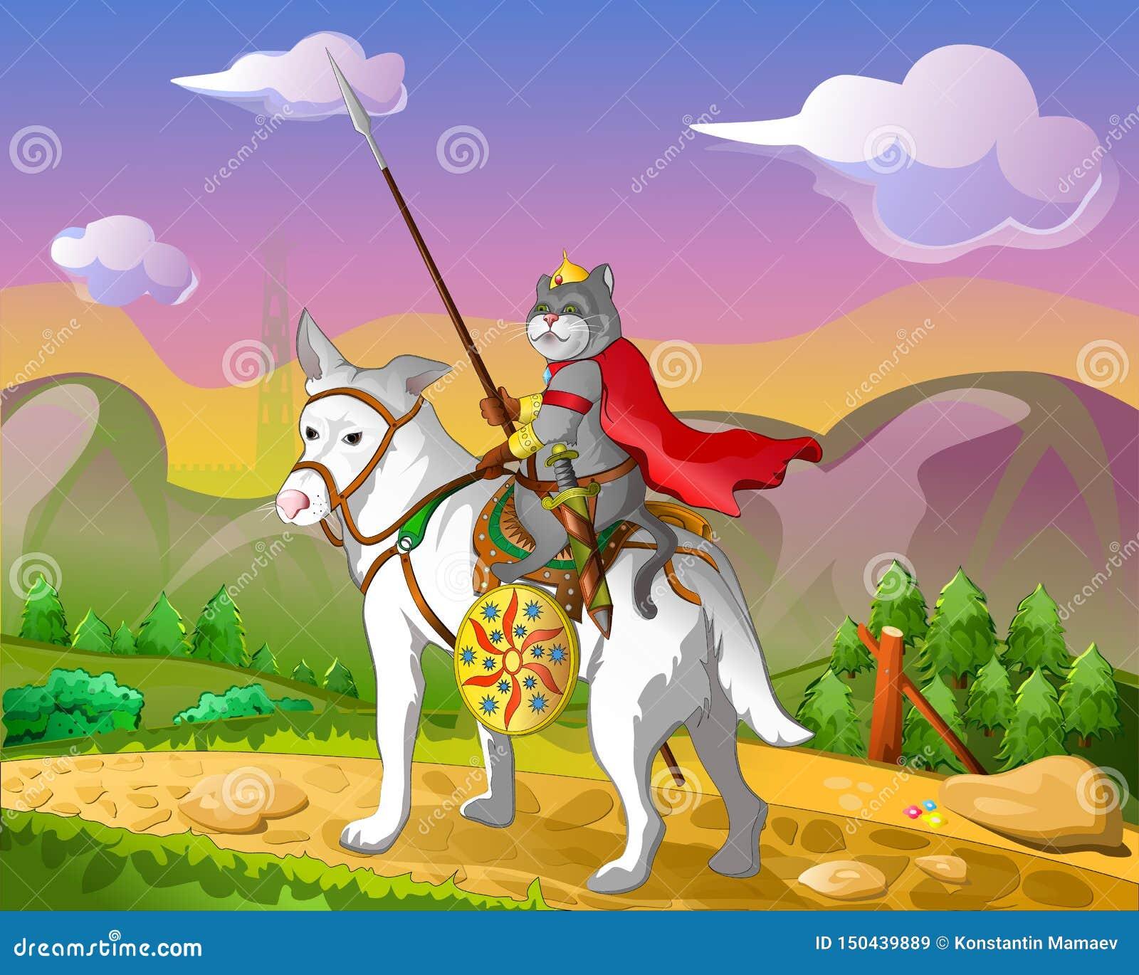 Un cavalier avec une lance