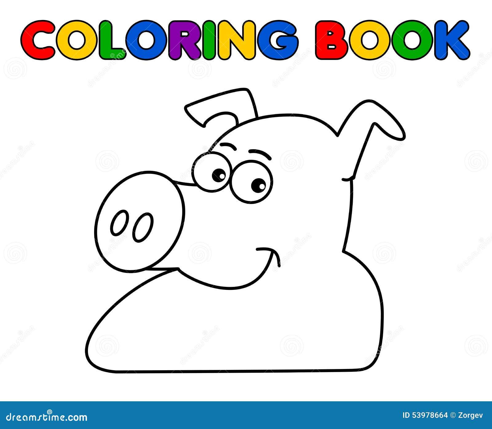 Un Cerdo Que Sonríe Para Colorear Ilustración del Vector ...