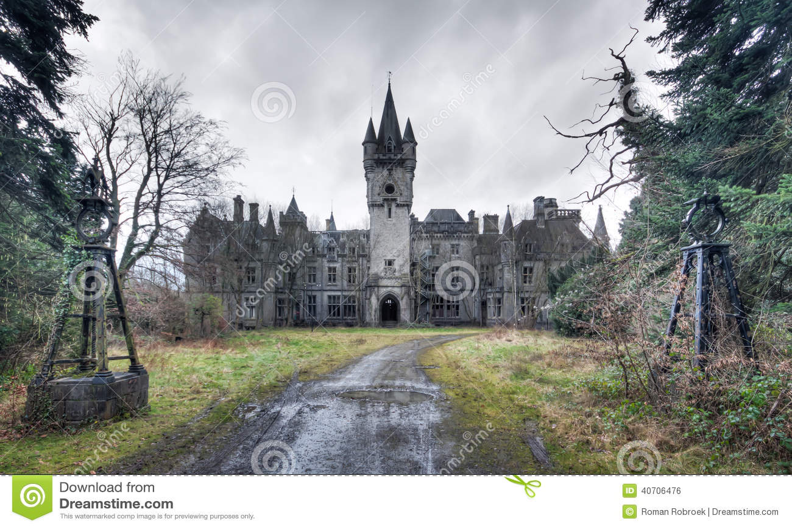 Un château abandonné Rien laissé plus