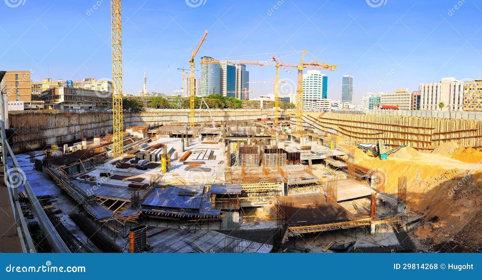 Grues de chantier de construction photo stock image for Chantiers de construction
