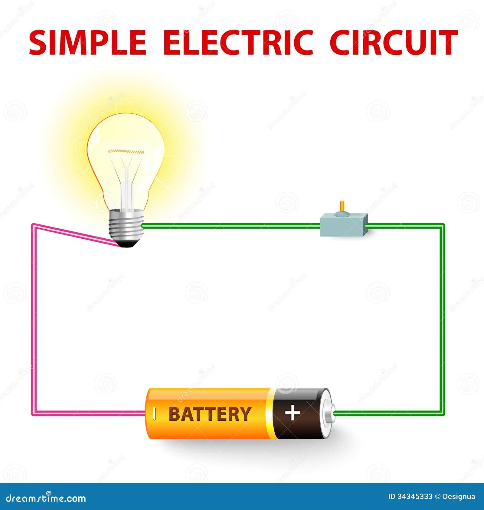 Circuito Electrico Simple : Un circuito eléctrico simple ilustración del vector ilustración de