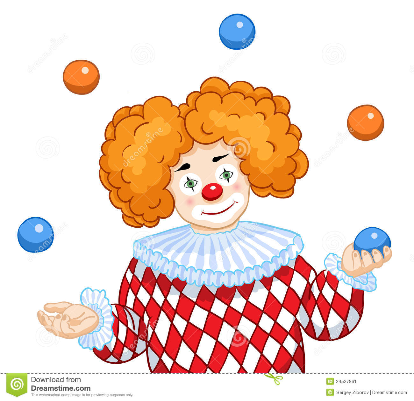 Un clown de jonglerie