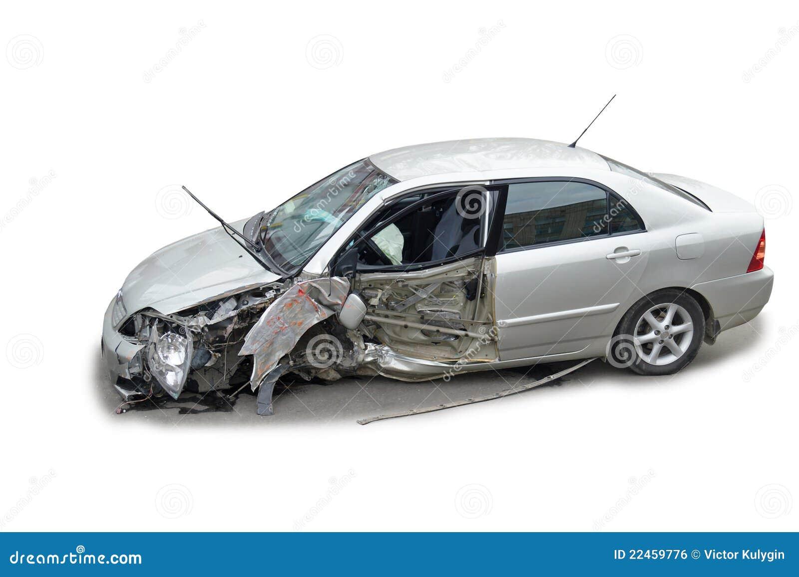 Un coche estrellado