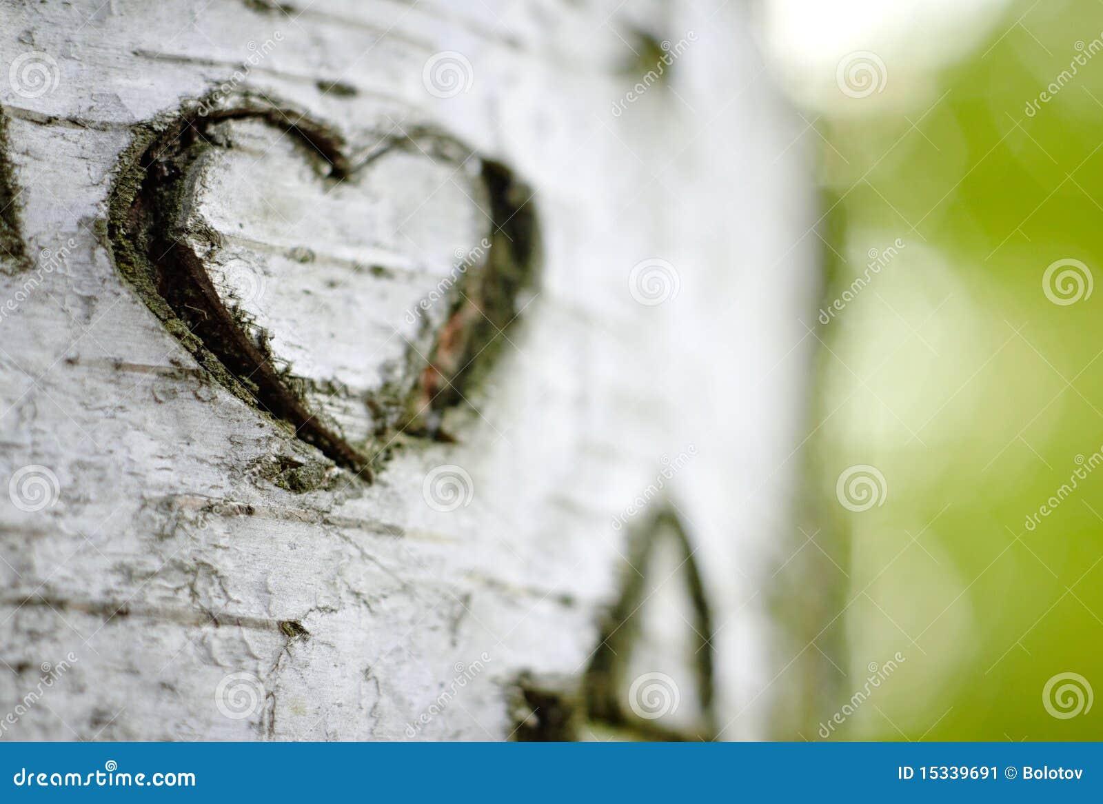 Un coeur découpé d amour