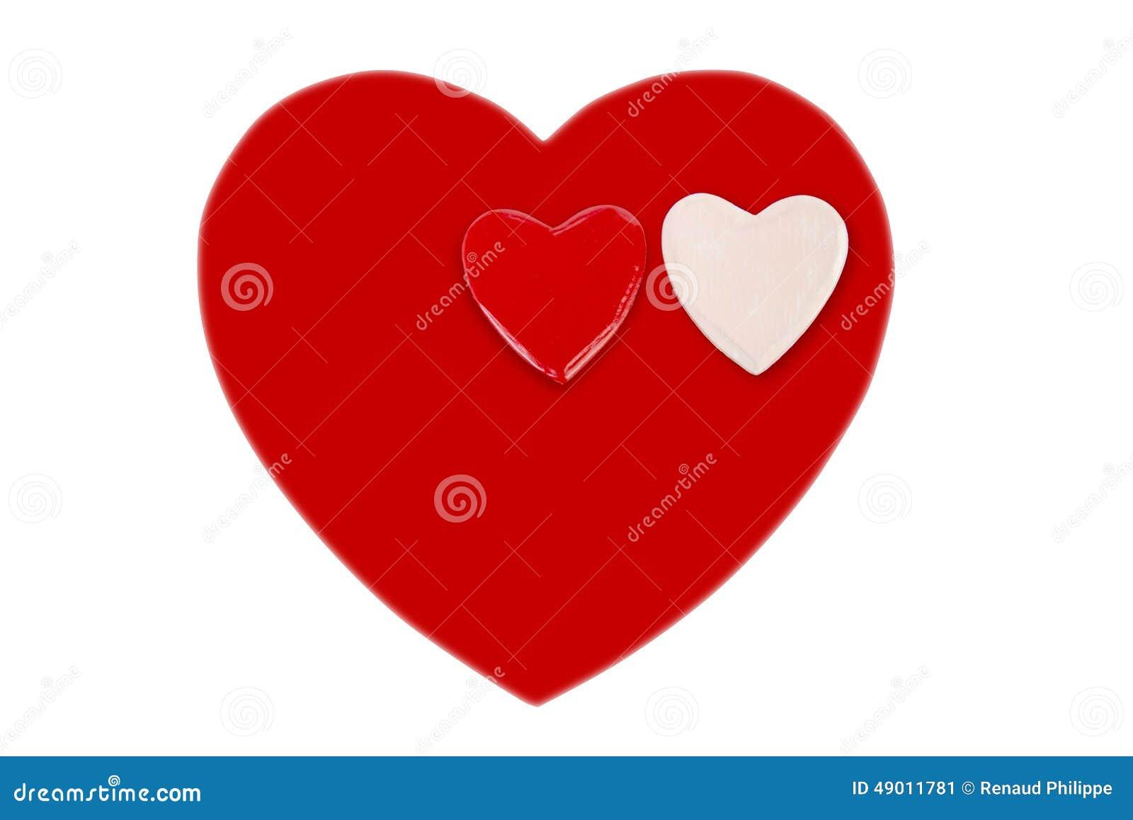 un coeur rouge et petit coeur deux pour le saint valentin image stock image du blanc jour. Black Bedroom Furniture Sets. Home Design Ideas