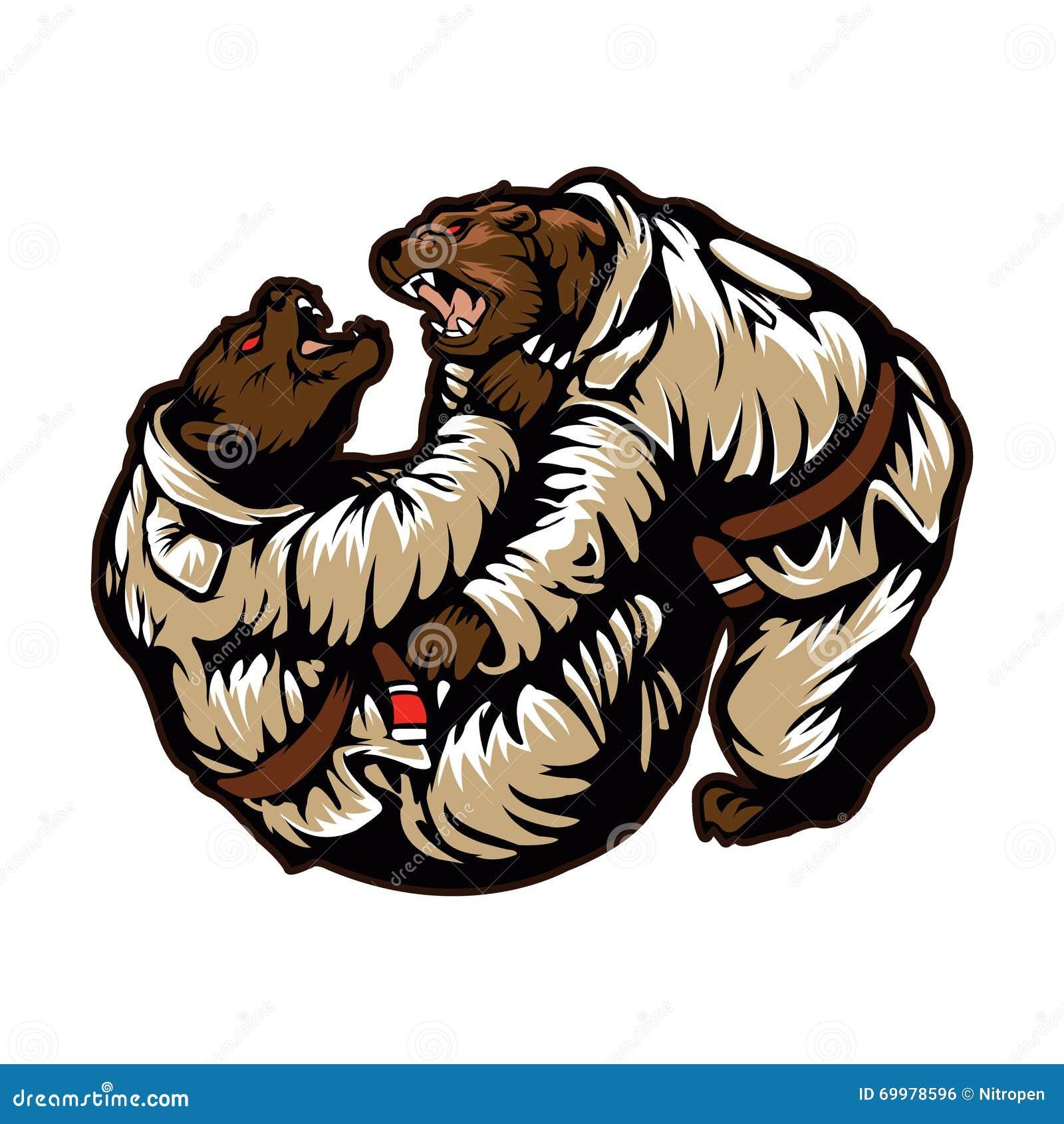 Un combattimento dei due orsi