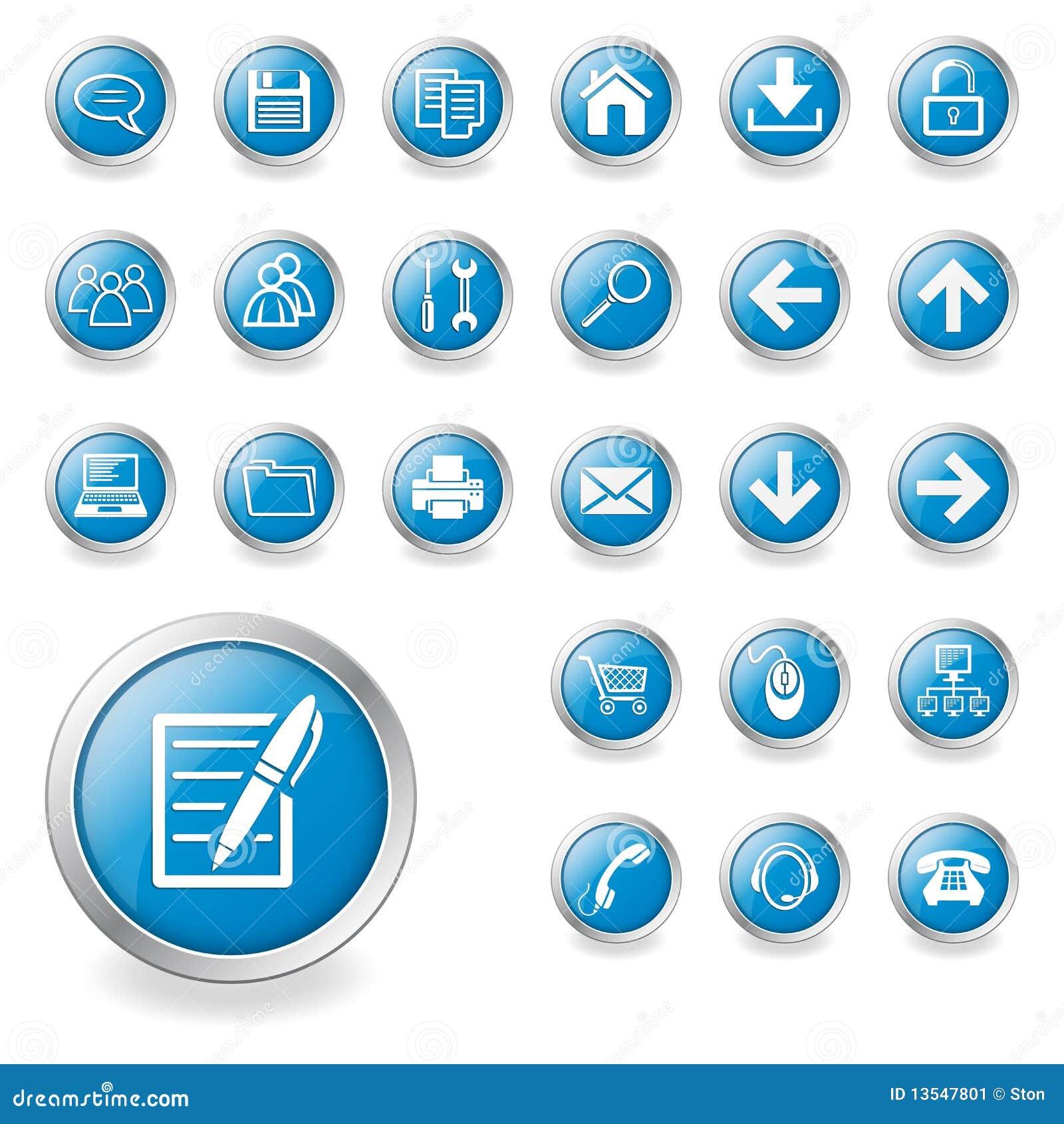 Un conjunto de iconos del Web
