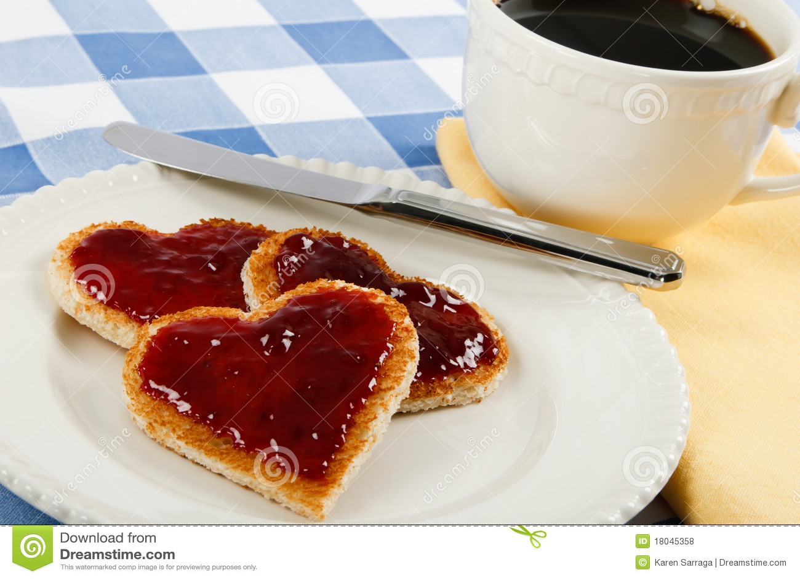 Un convite rom ntico del desayuno fotos de archivo libres - Preparar desayuno romantico ...