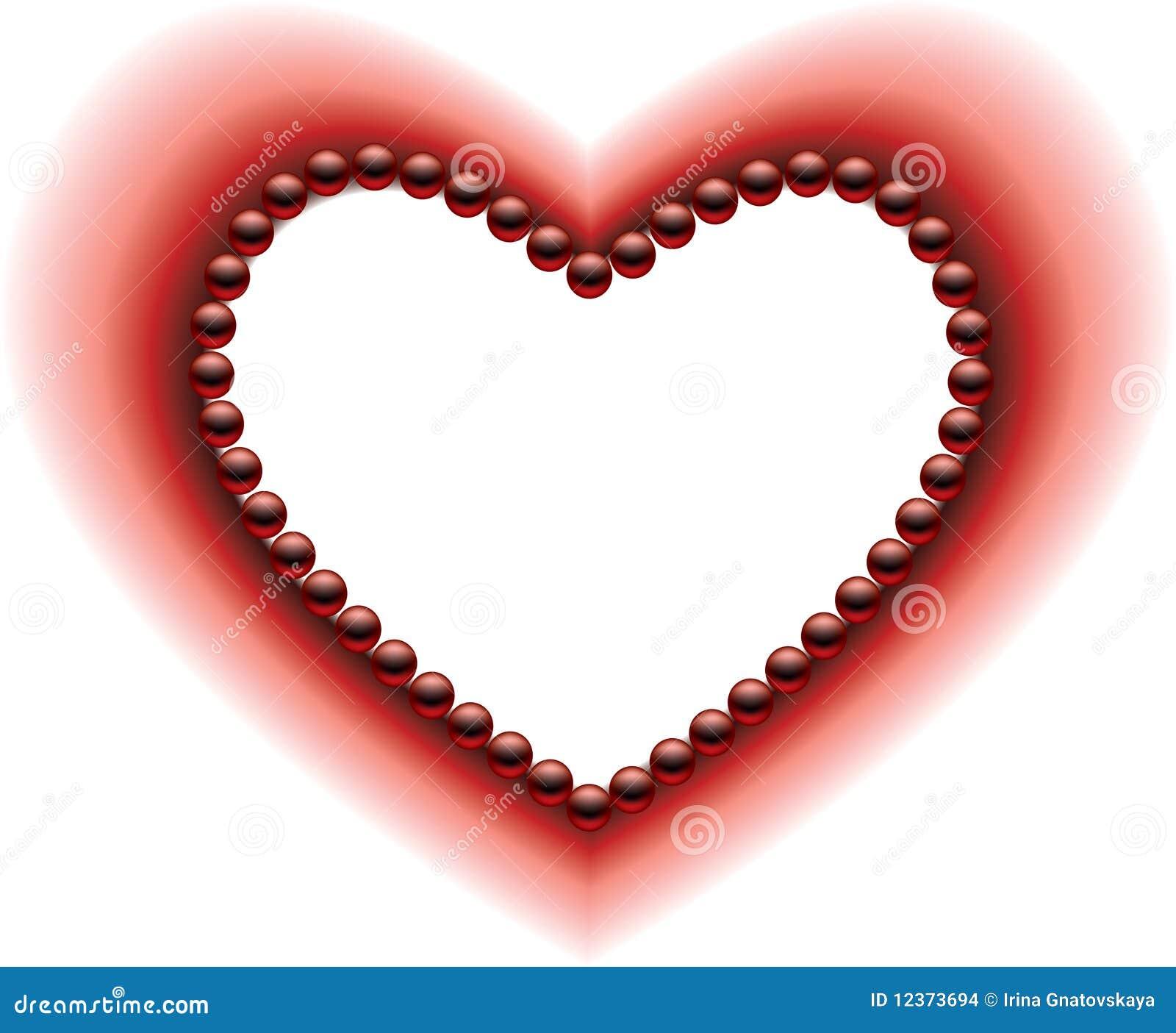 Un Corazón Ilustración Del Vector Ilustración De Tarjeta 12373694