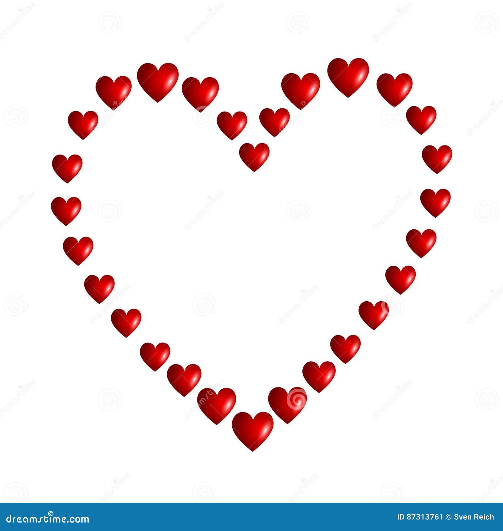 Un Corazón Hecho De Corazones Ilustración Del Vector Ilustración