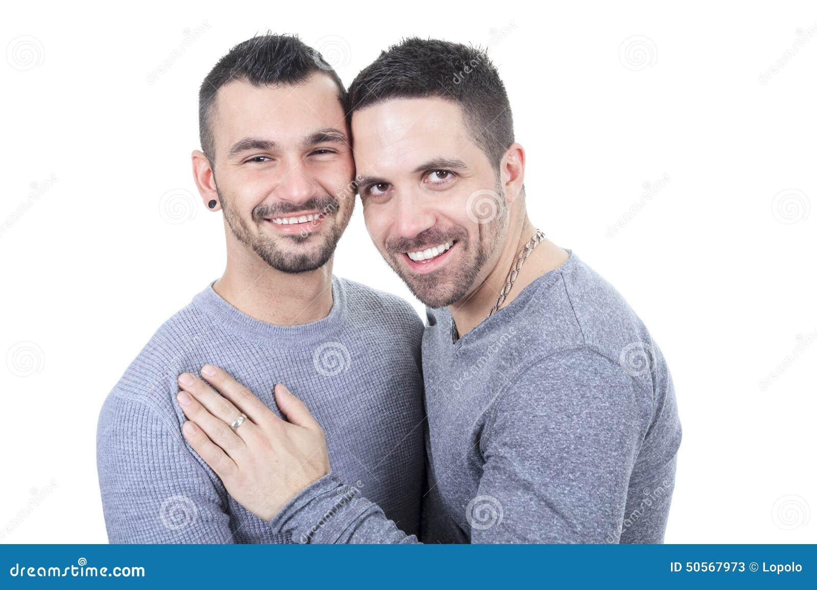 un couple homosexuel au dessus d 39 un fond blanc photo stock image 50567973. Black Bedroom Furniture Sets. Home Design Ideas