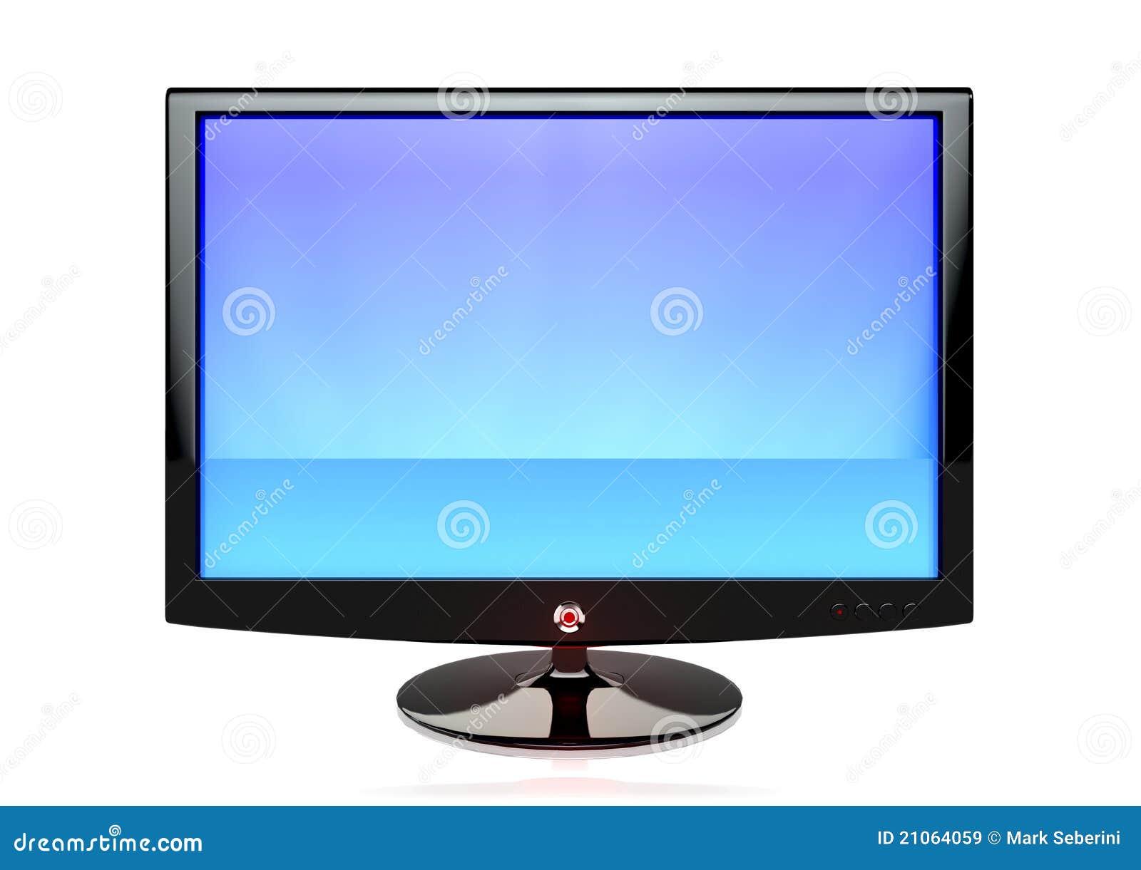 un cran plat tv images libres de droits image 21064059. Black Bedroom Furniture Sets. Home Design Ideas