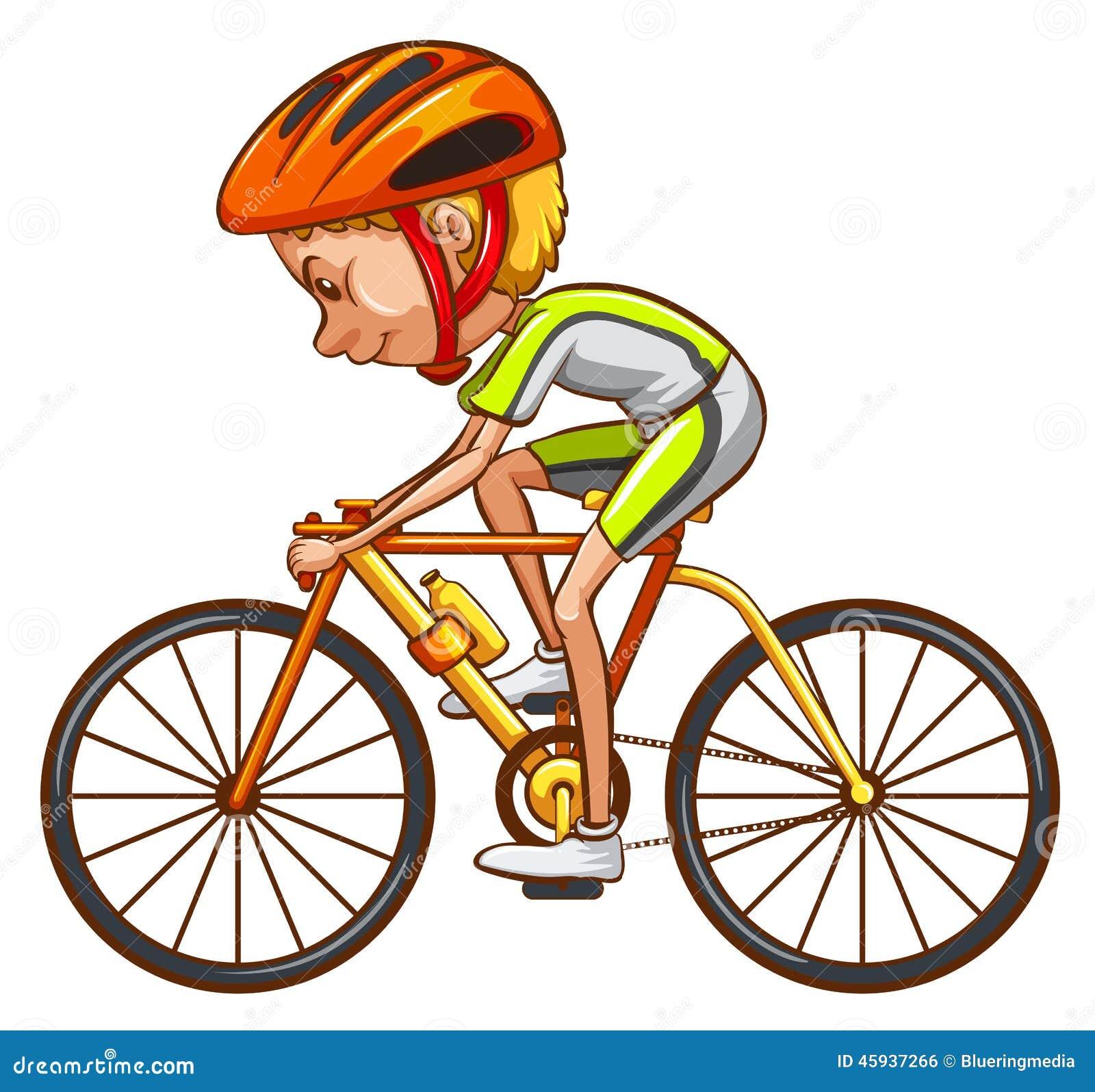 Un croquis d 39 un cycliste illustration de vecteur image - Cycliste dessin ...