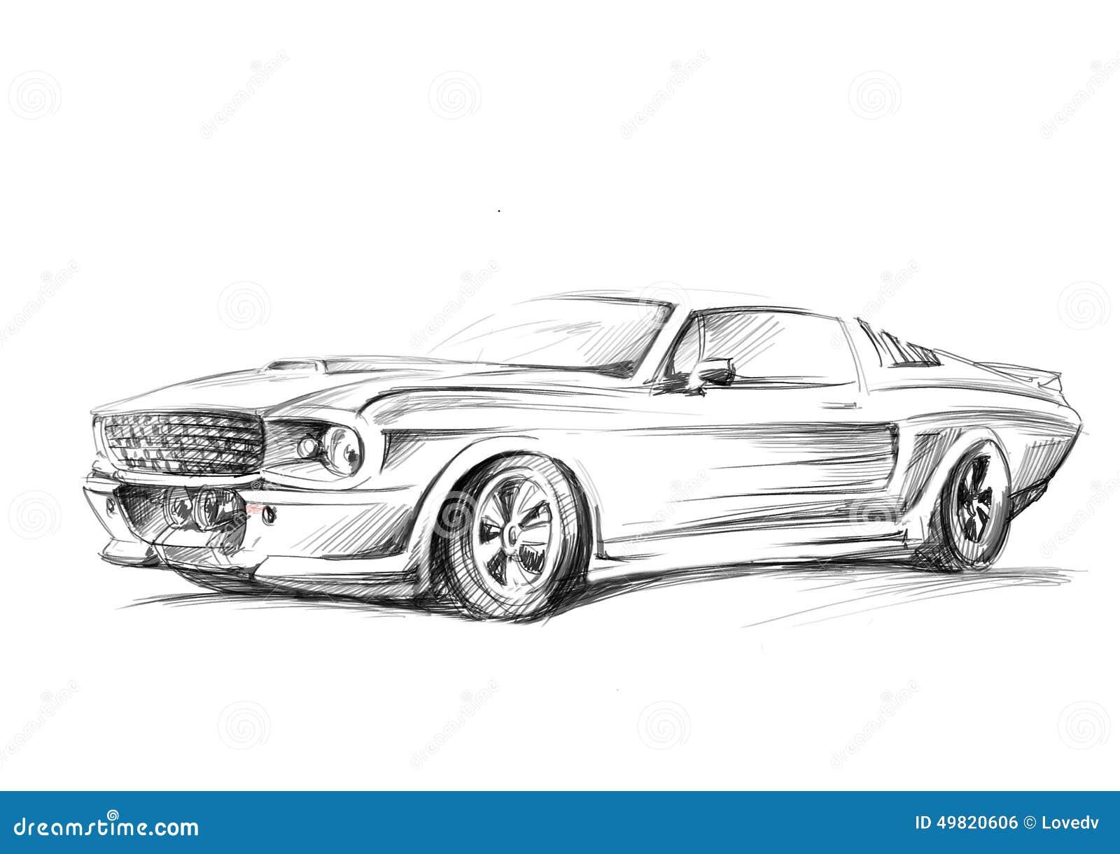 un croquis d 39 une voiture illustration stock image 49820606. Black Bedroom Furniture Sets. Home Design Ideas
