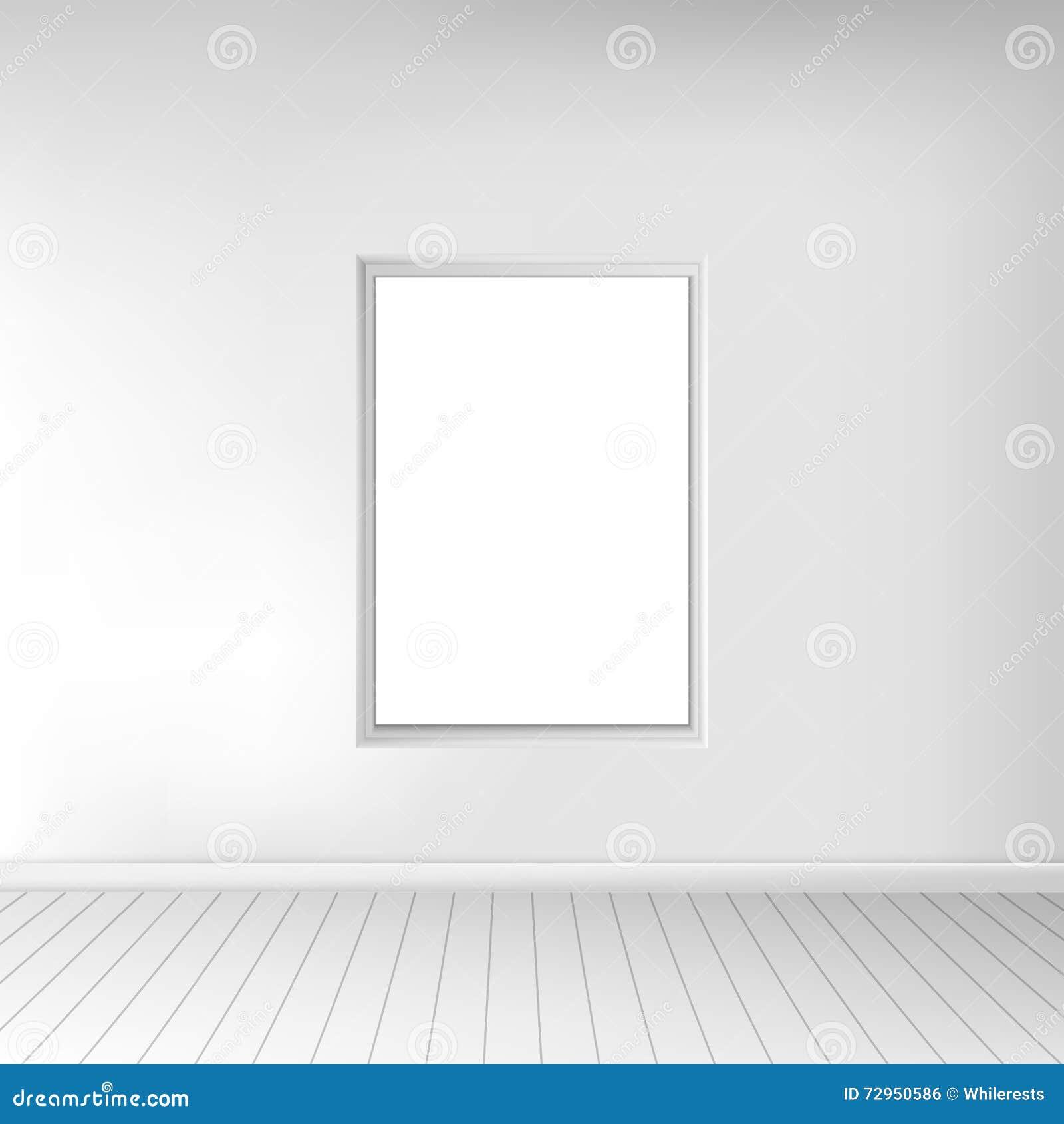 Un Cuarto Blanco Vacío Espacioso Con Una Imagen En La ...