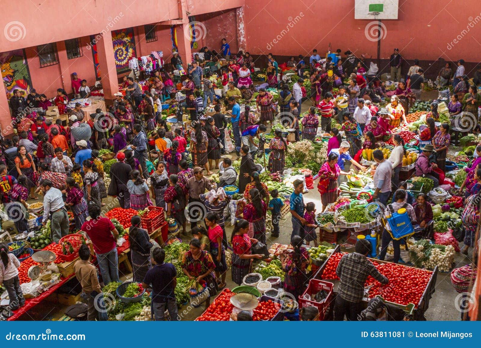 Un día en el mercado de Chichicastenango