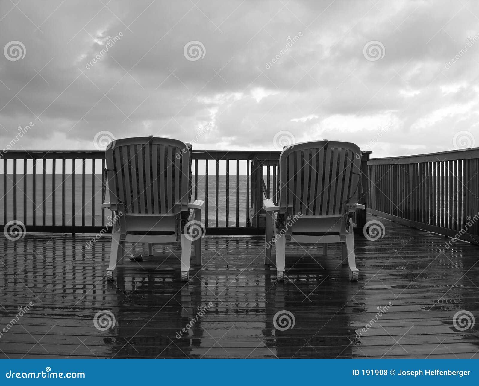 Un día lluvioso en la playa