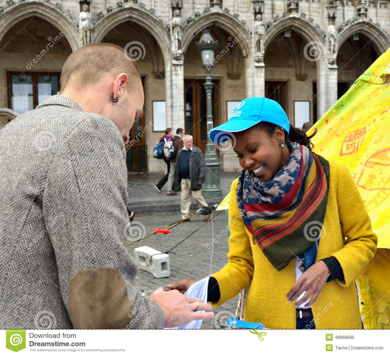 UN Day on Grand Place in Brussels, Belgium