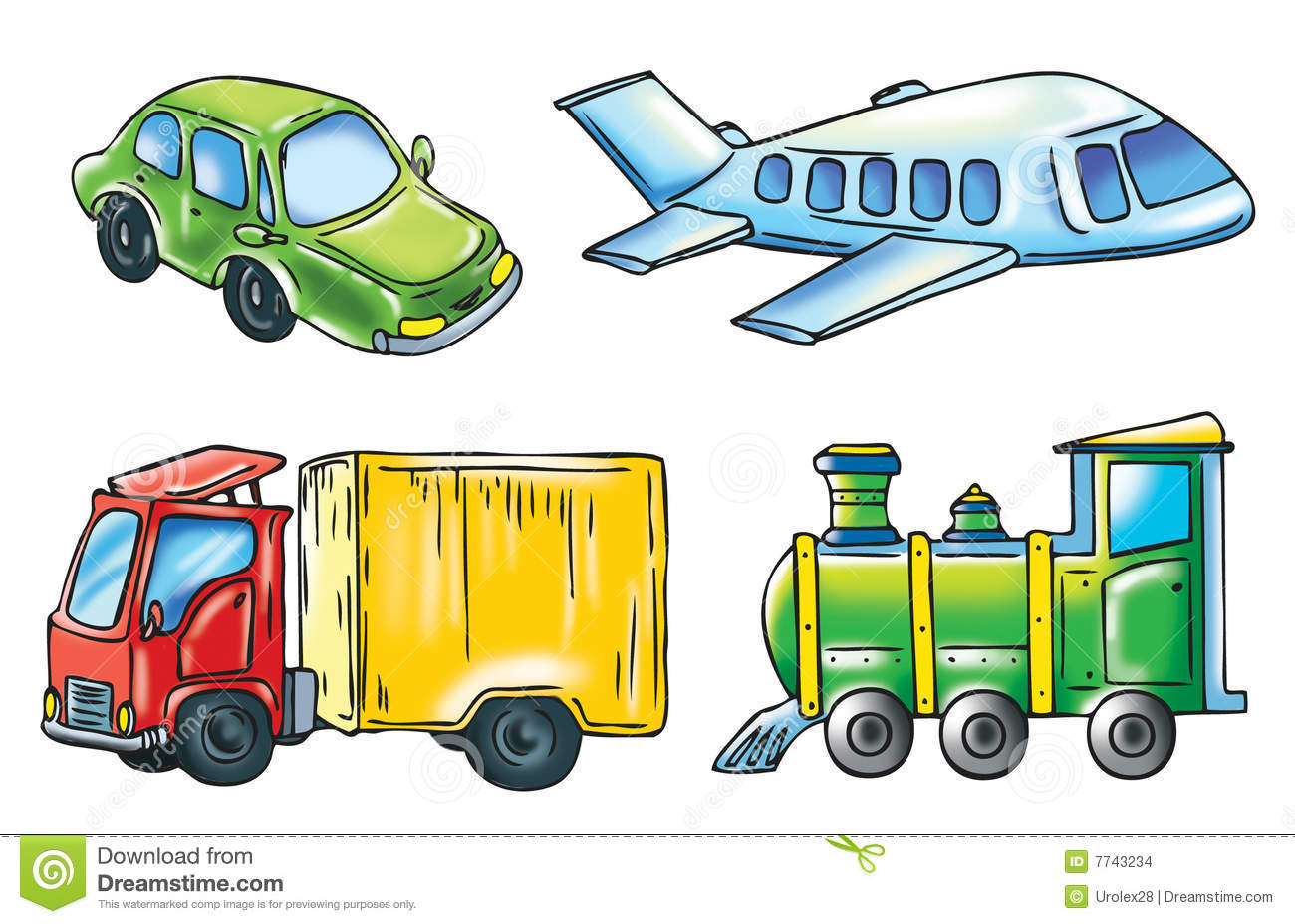 Un dessin anim de transport illustration stock illustration du transport train 7743234 - Dessin de transport ...