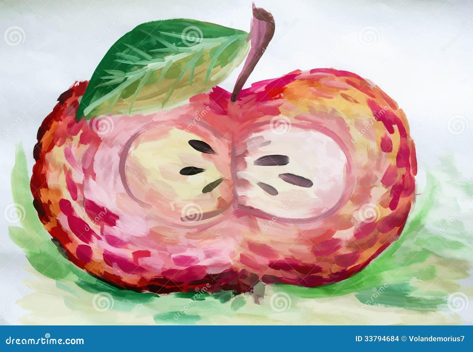 Un dessin en coupe d 39 une pomme images stock image 33794684 - Dessin en coupe ...