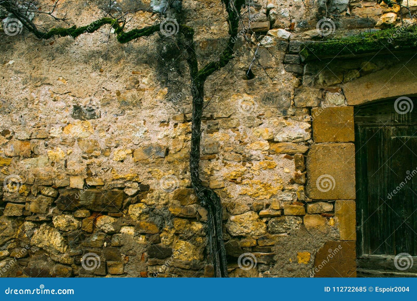 Un Dessin Sur Un Mur En Pierre Obtenu Image Stock Image Du