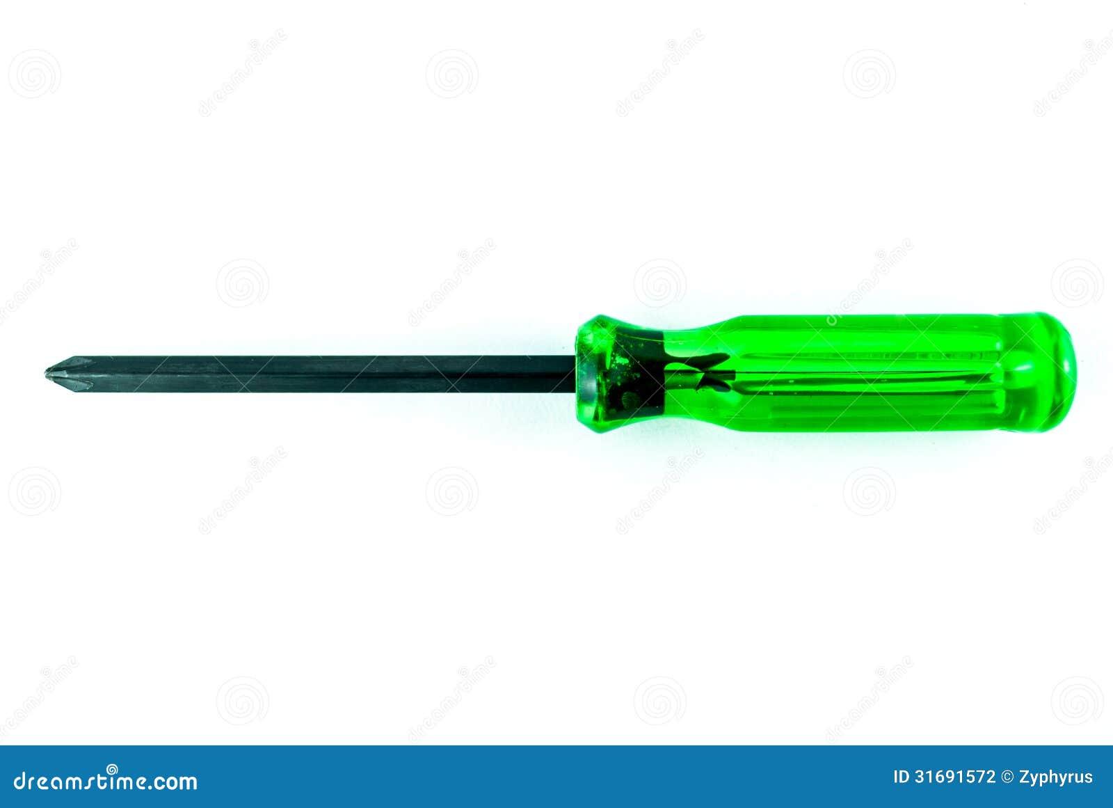 Un destornillador verde stock de ilustración. Ilustración de detalle ...