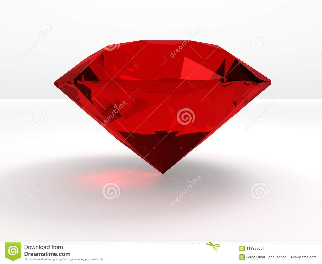 Un Diamant Rouge Cher Illustration Stock Illustration Du Rouge 119988687