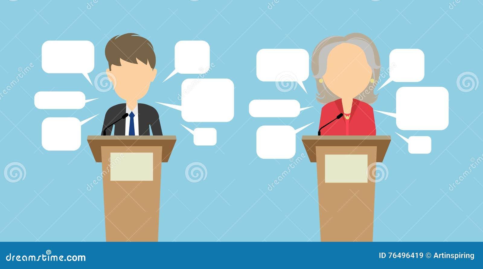 Un dibattito di due altoparlanti