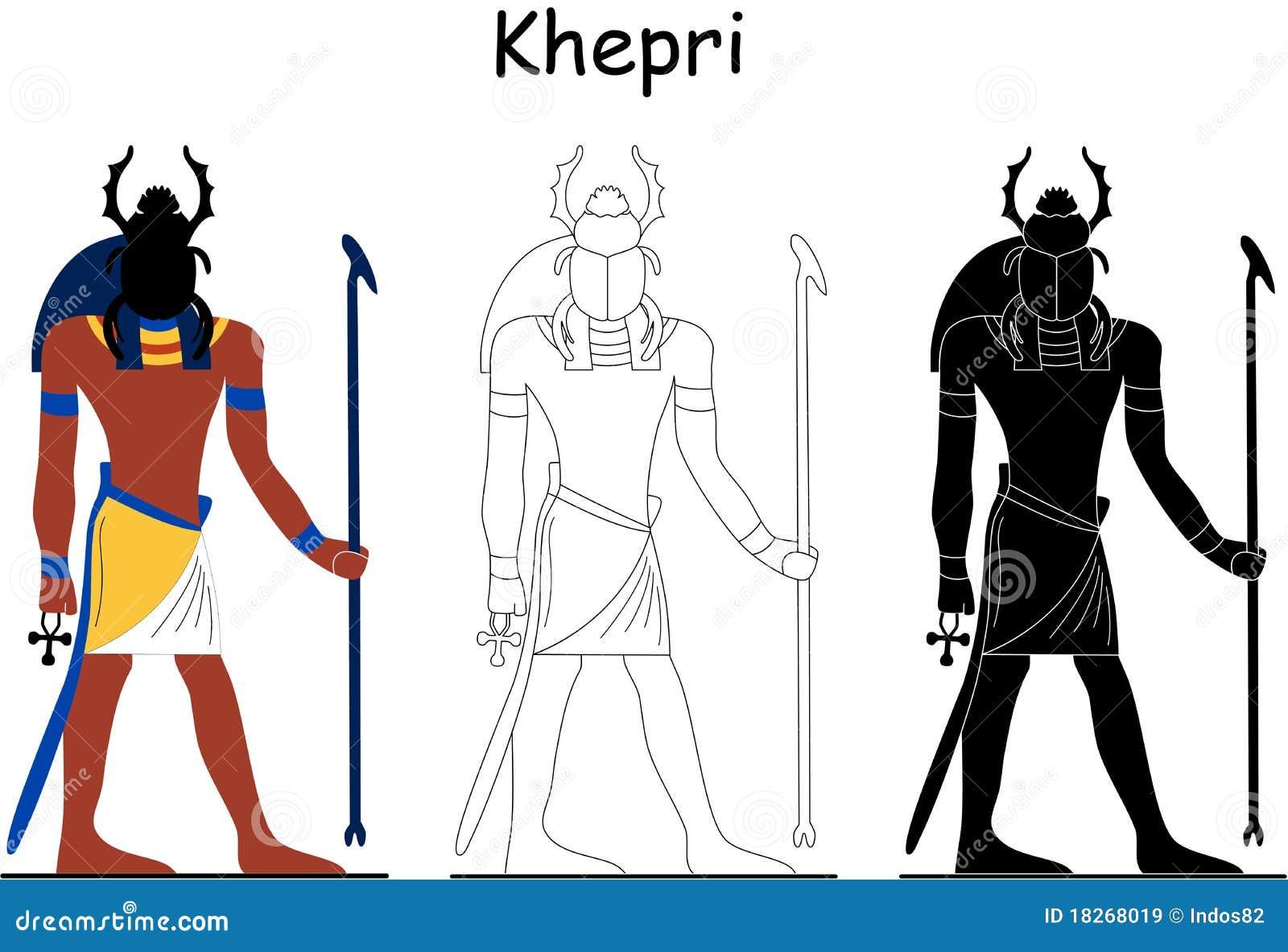 Un dieu égyptien antique - Khepri