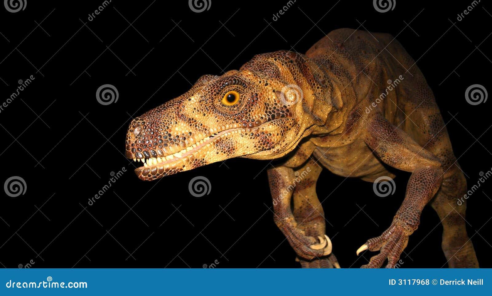 Un dinosaurio en el vagabundeo