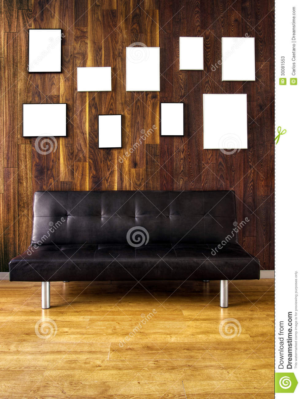 divan et cadres image stock image du abstrait tage 30081553. Black Bedroom Furniture Sets. Home Design Ideas