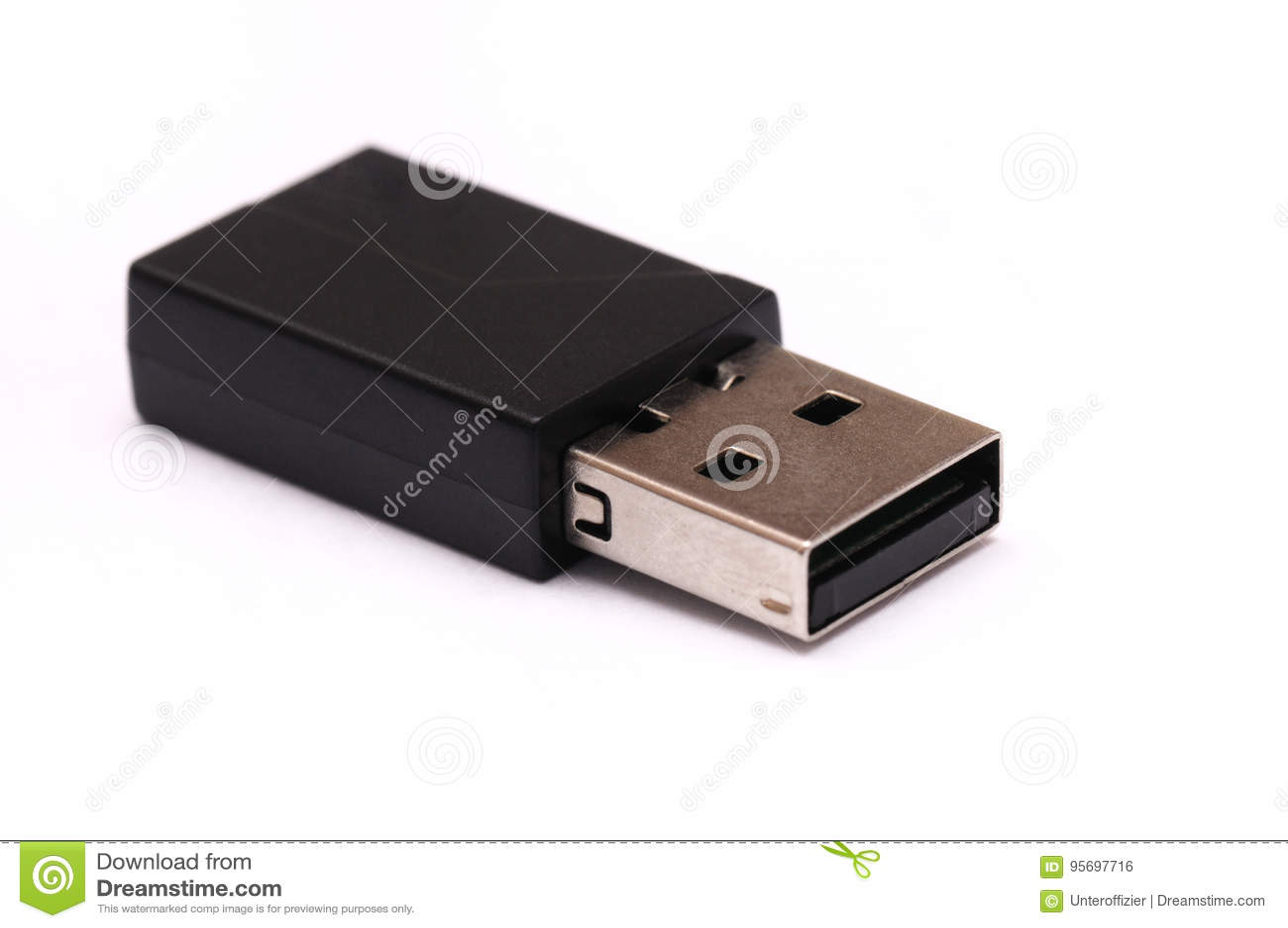 Un dongle del nero di USB