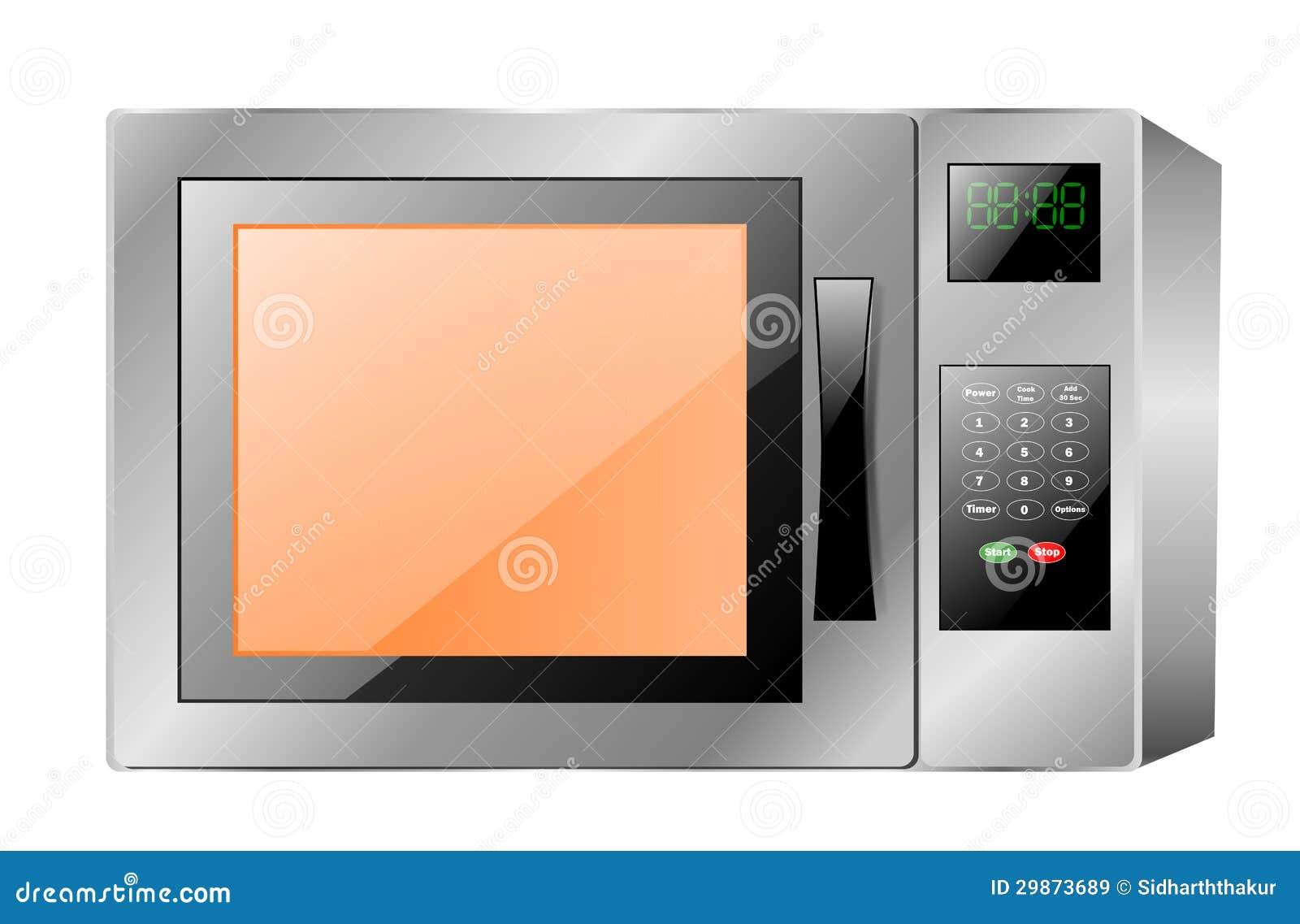 Horno de microondas stock de ilustraci n imagen de - Cocina con microondas ...