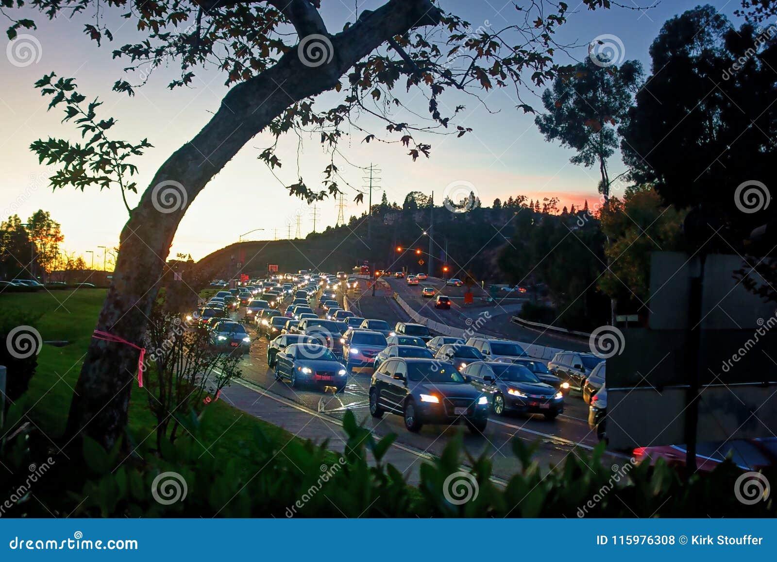 Un embouteillage sur la route de moines à San Diego