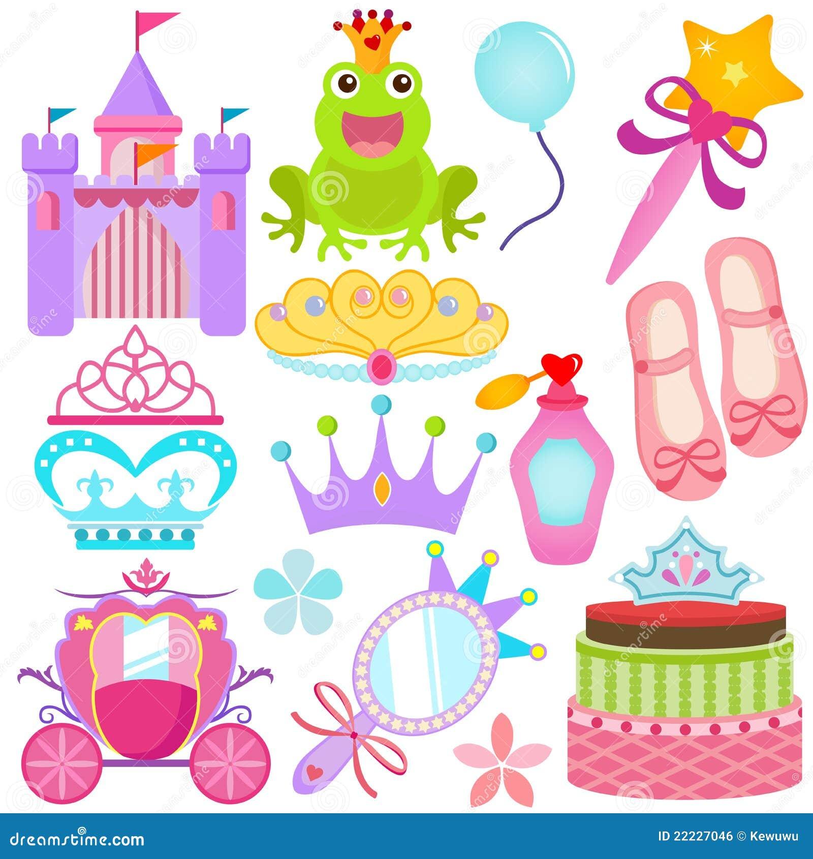 Un ensemble coloré de graphismes de vecteur : Princesse douce Se