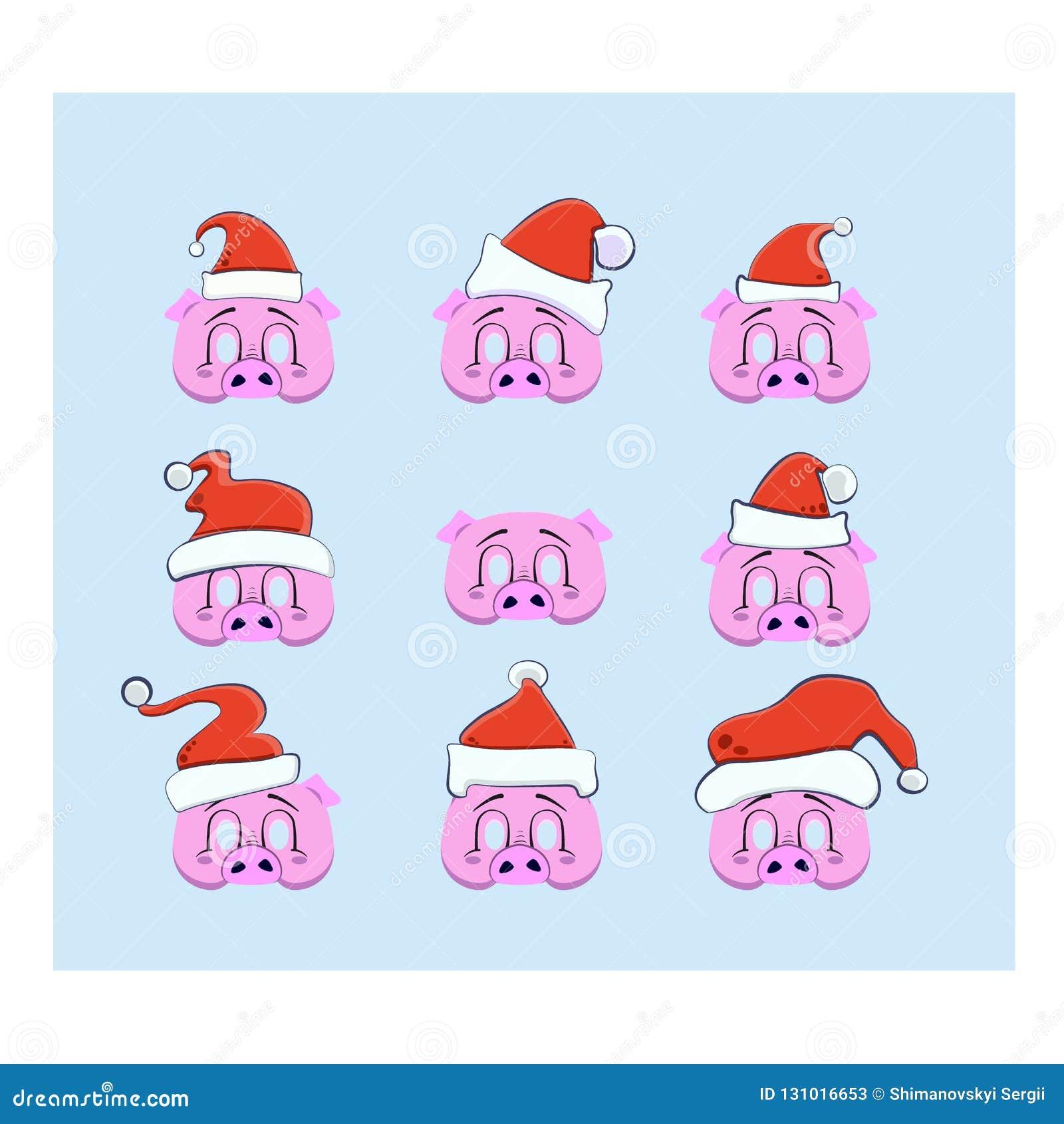 Un ensemble d appui verticaux pour une séance photos pendant Noël et la nouvelle année, masque sous forme de tête d un porc avec