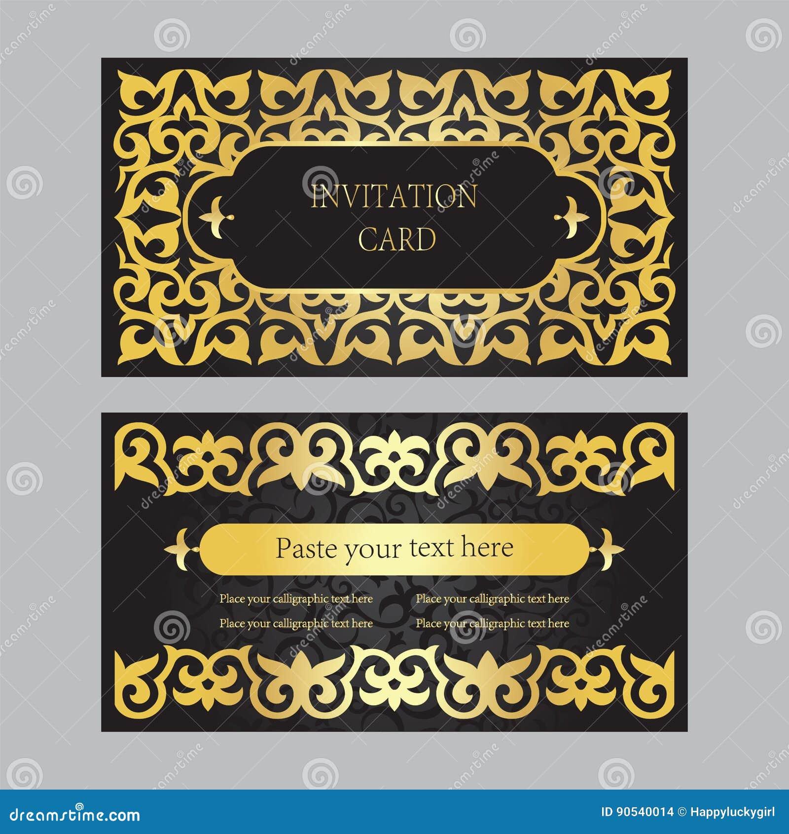Un Ensemble De Cartes D Invitation Visite Professionnelle Fond Noir Avec