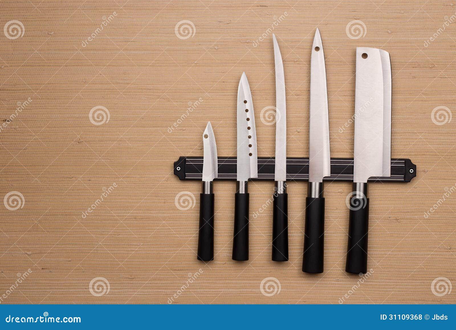 Un ensemble de couteaux