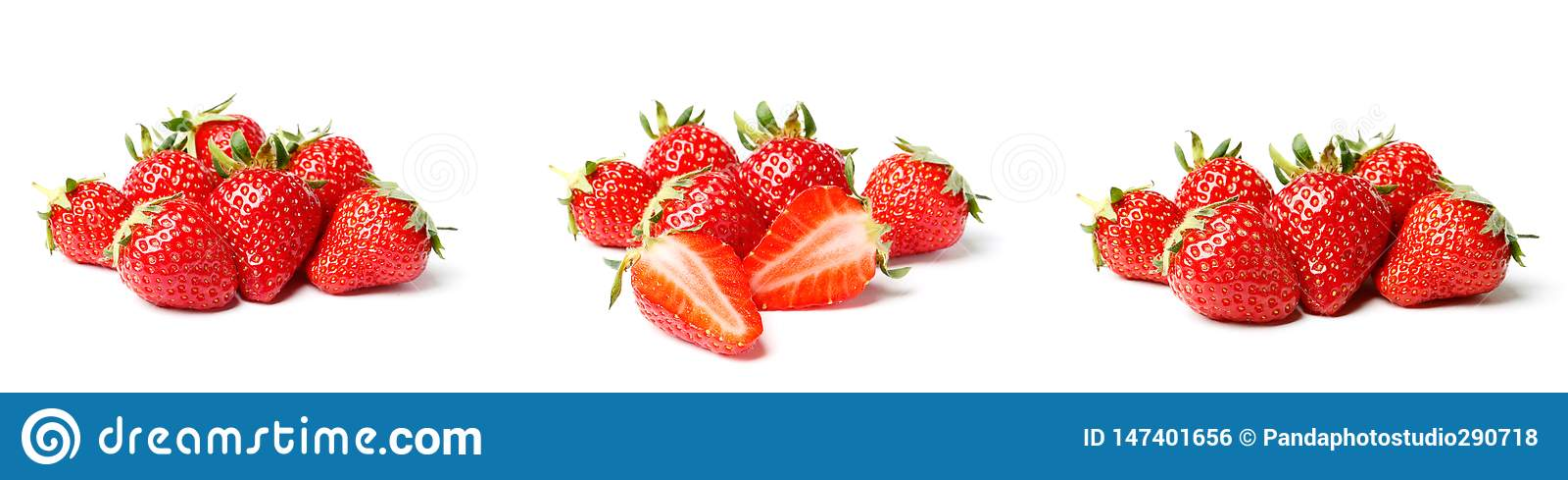 Un ensemble de fraise fra?che d isolement sur le fond blanc