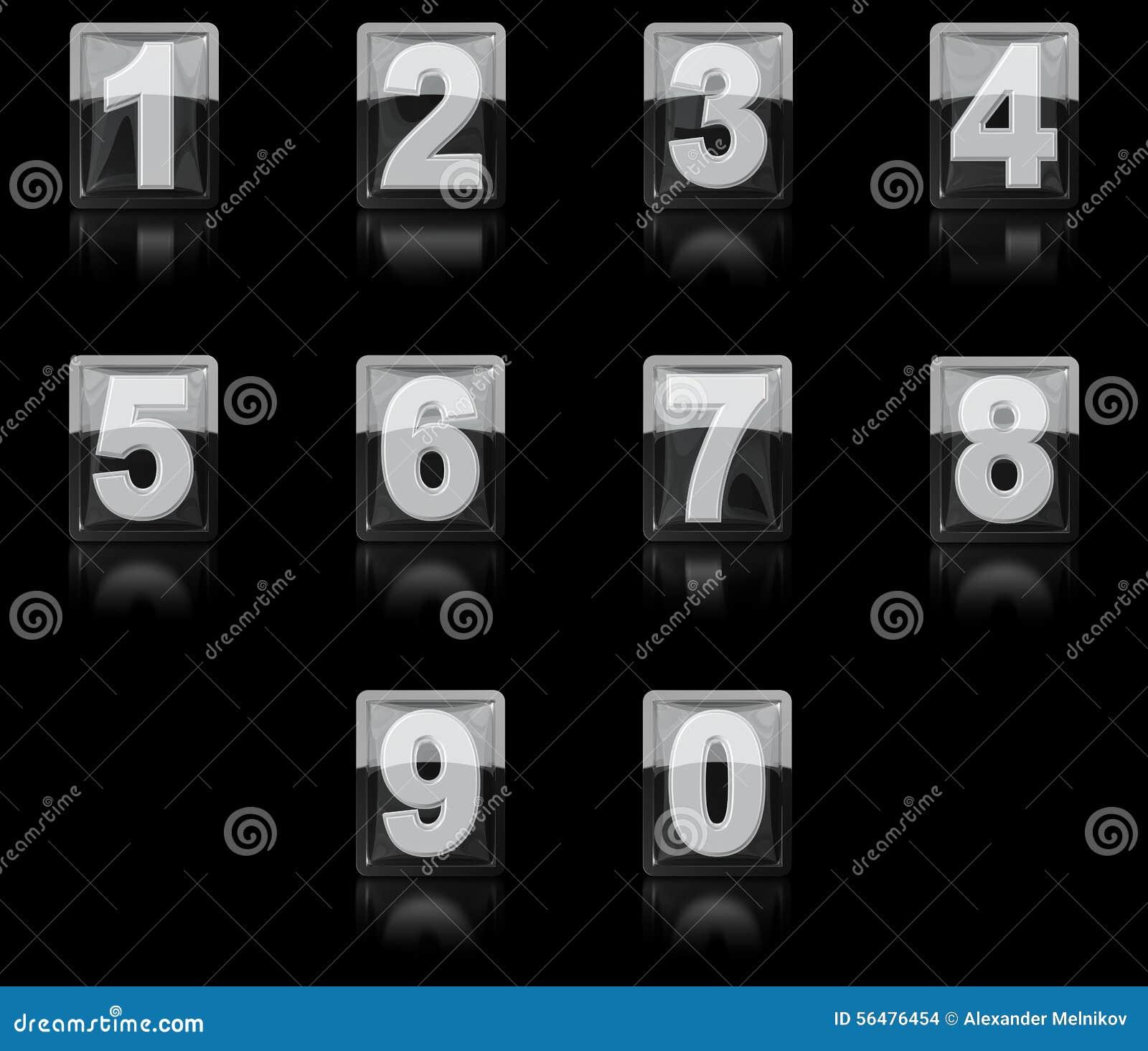 Un ensemble de nombres de l icône 3D