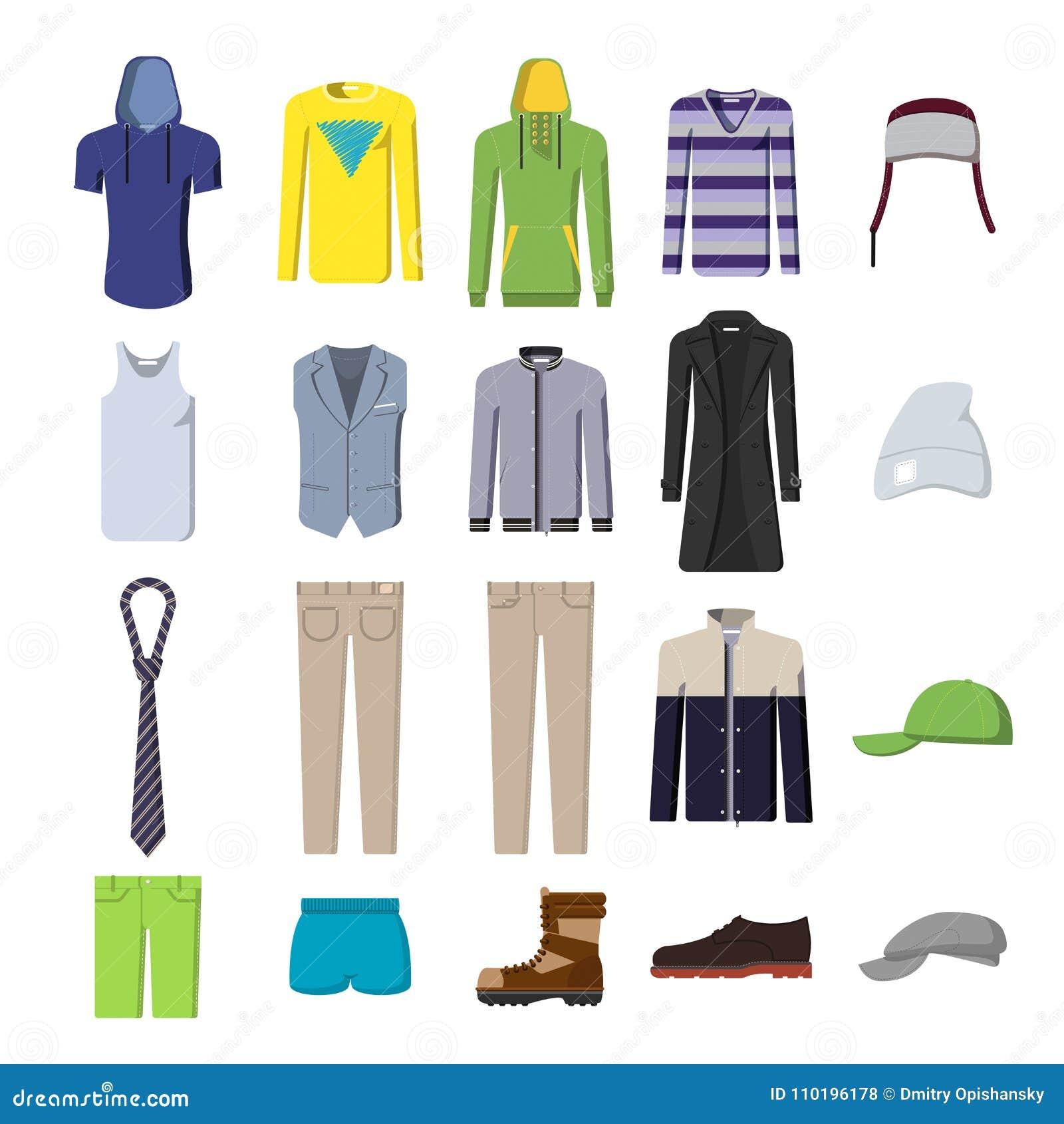 Un ensemble de photos, d habillement du ` s d hommes et de chaussures